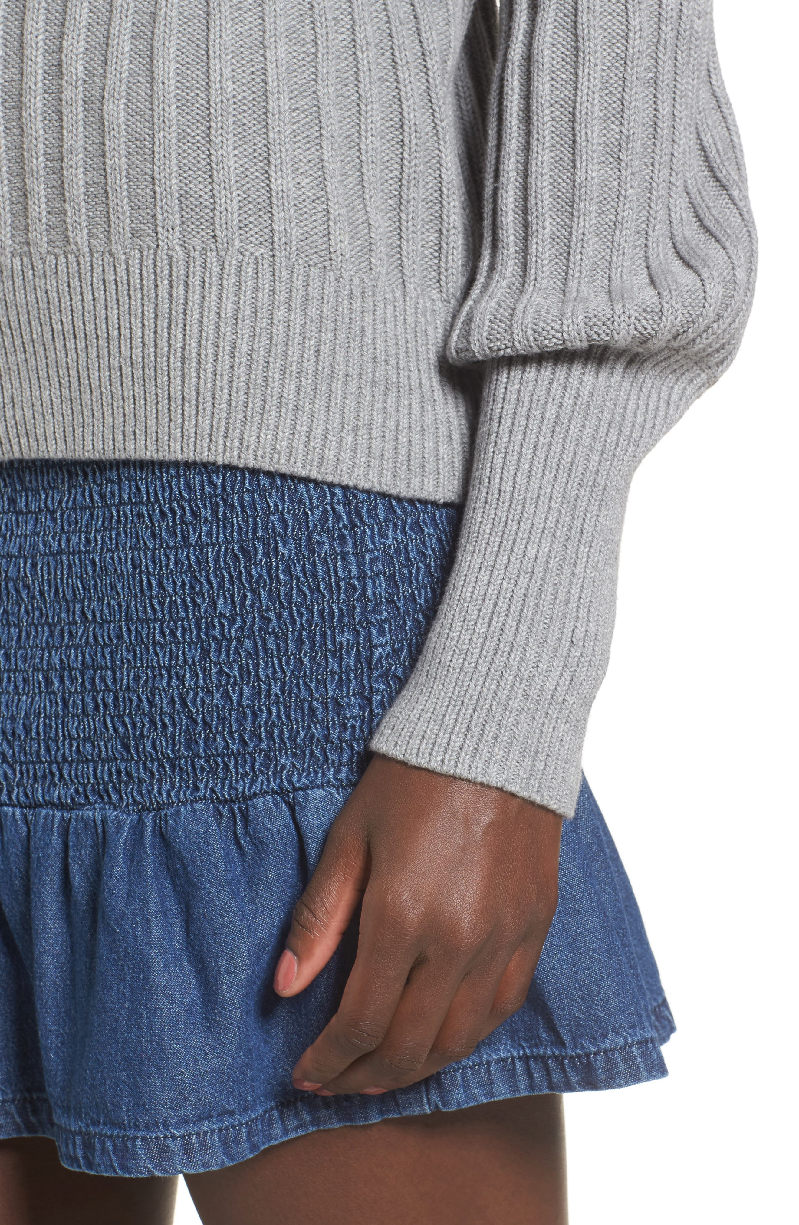 Galactic Puff Sleeve Sweater,                             Alternate thumbnail 4, color,                             051