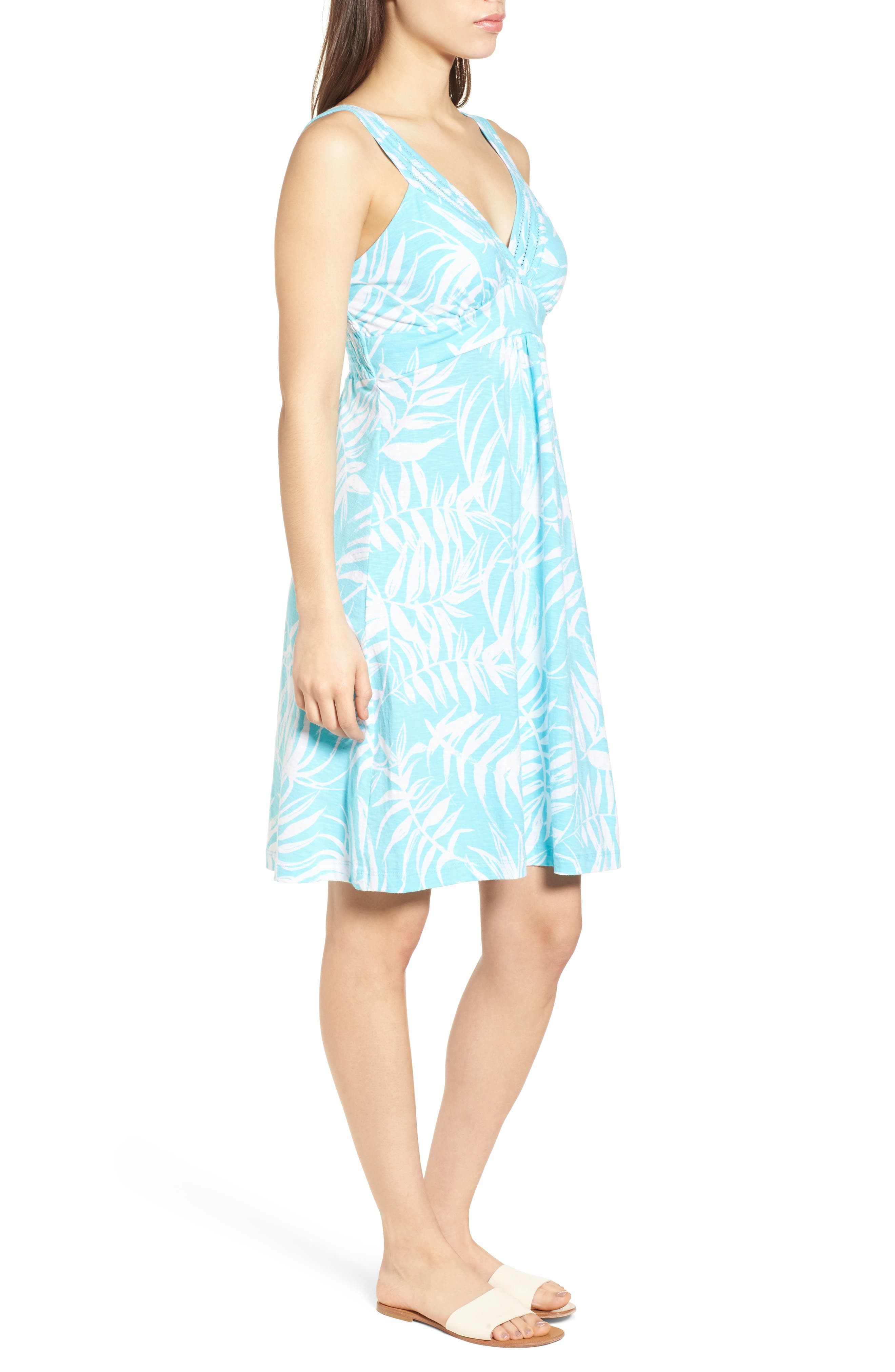 Fronds with Benefits Dress,                             Alternate thumbnail 3, color,                             BLUE RADIANCE