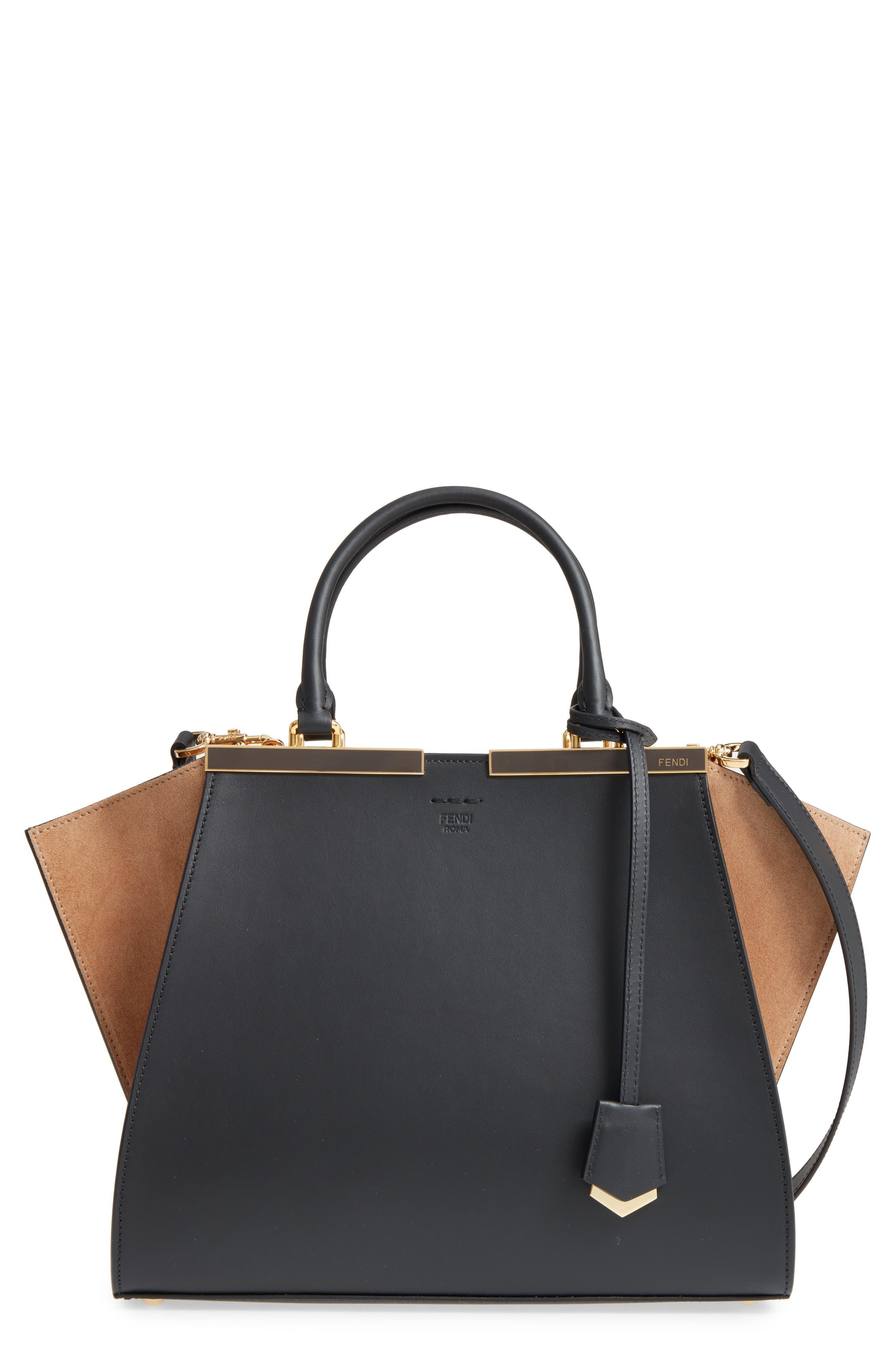 3Jours Leather & Suede Shopper,                         Main,                         color, 016