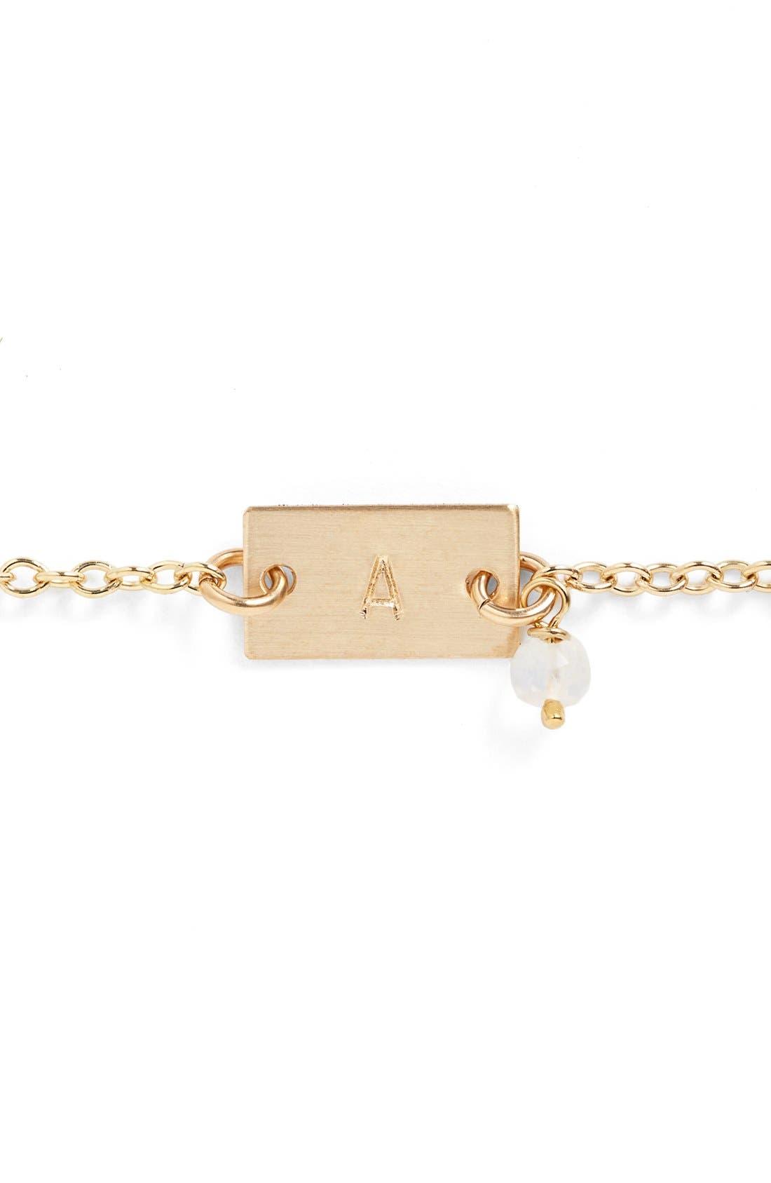 Shaka Initial 14k-Gold Fill Bar Bracelet,                             Alternate thumbnail 2, color,                             710