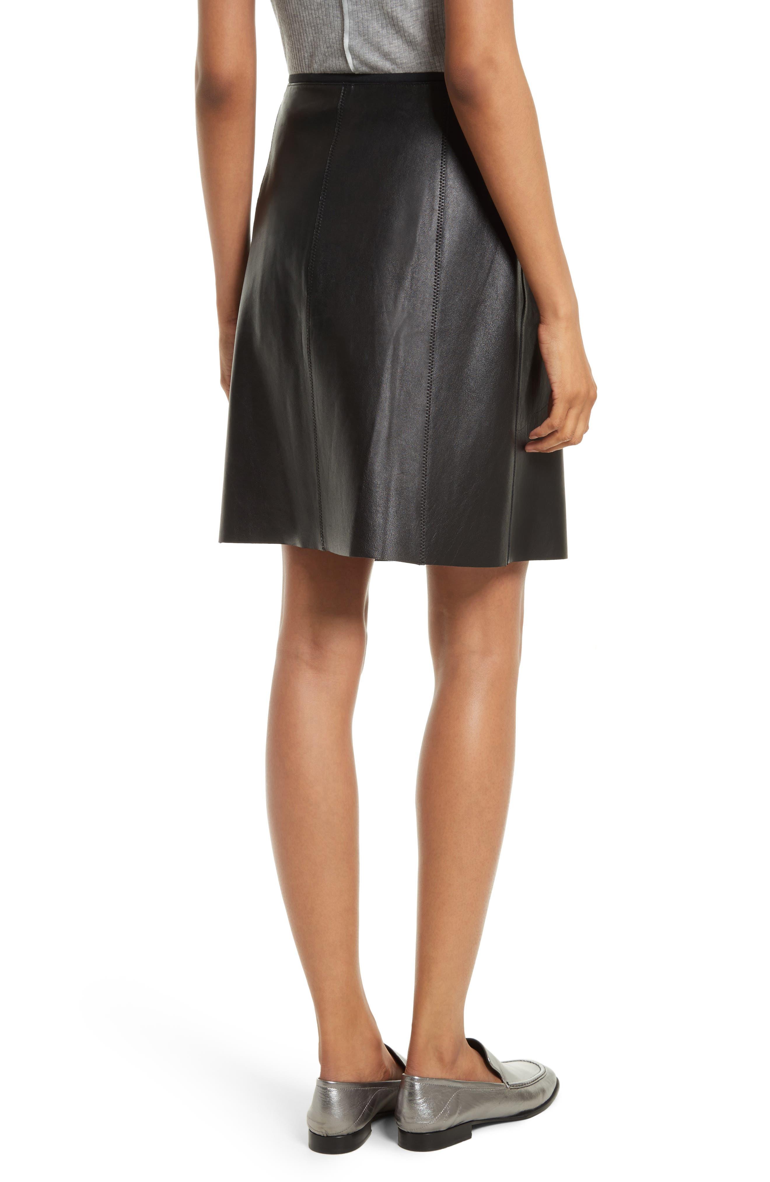 Lloyd Leather Skirt,                             Alternate thumbnail 2, color,