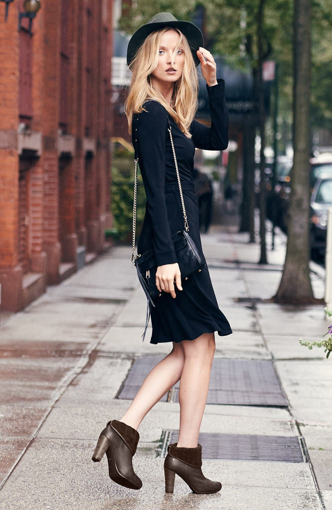 'New Jeanne Two' Jersey Wrap Dress,                             Alternate thumbnail 4, color,                             404