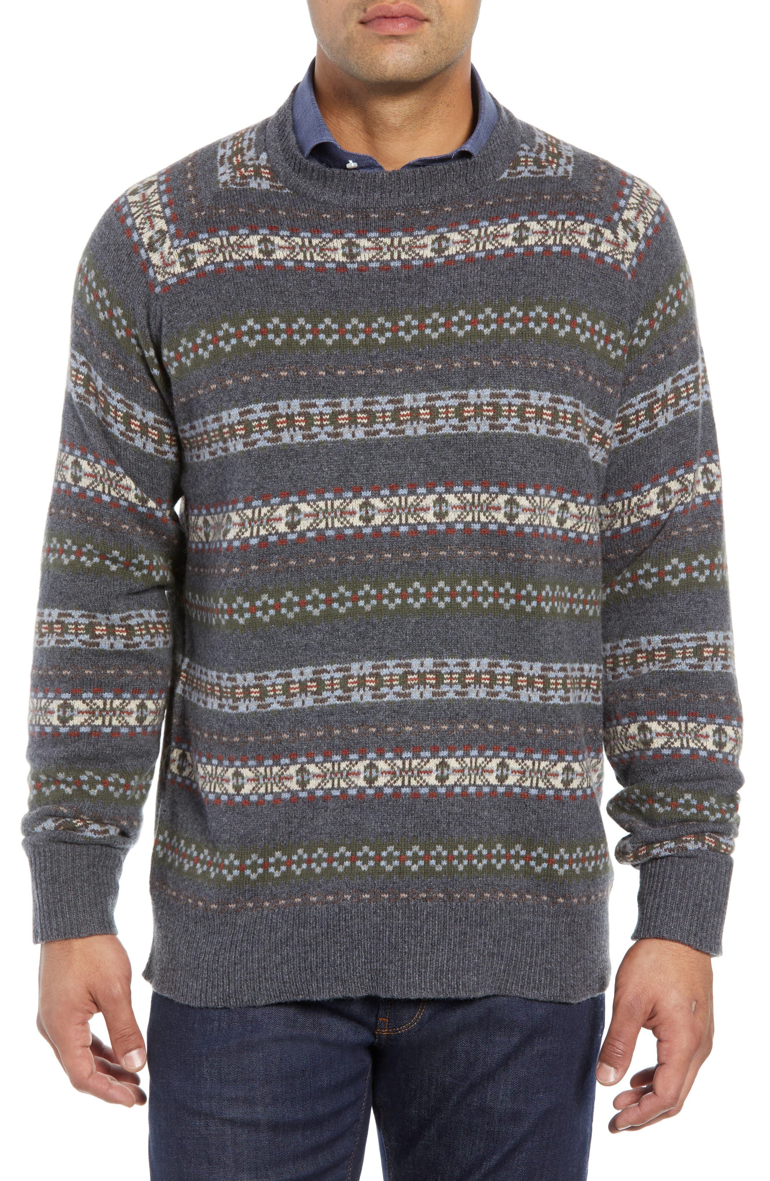 Mountainside Fair Isle Crewneck Sweater,                             Main thumbnail 1, color,                             017