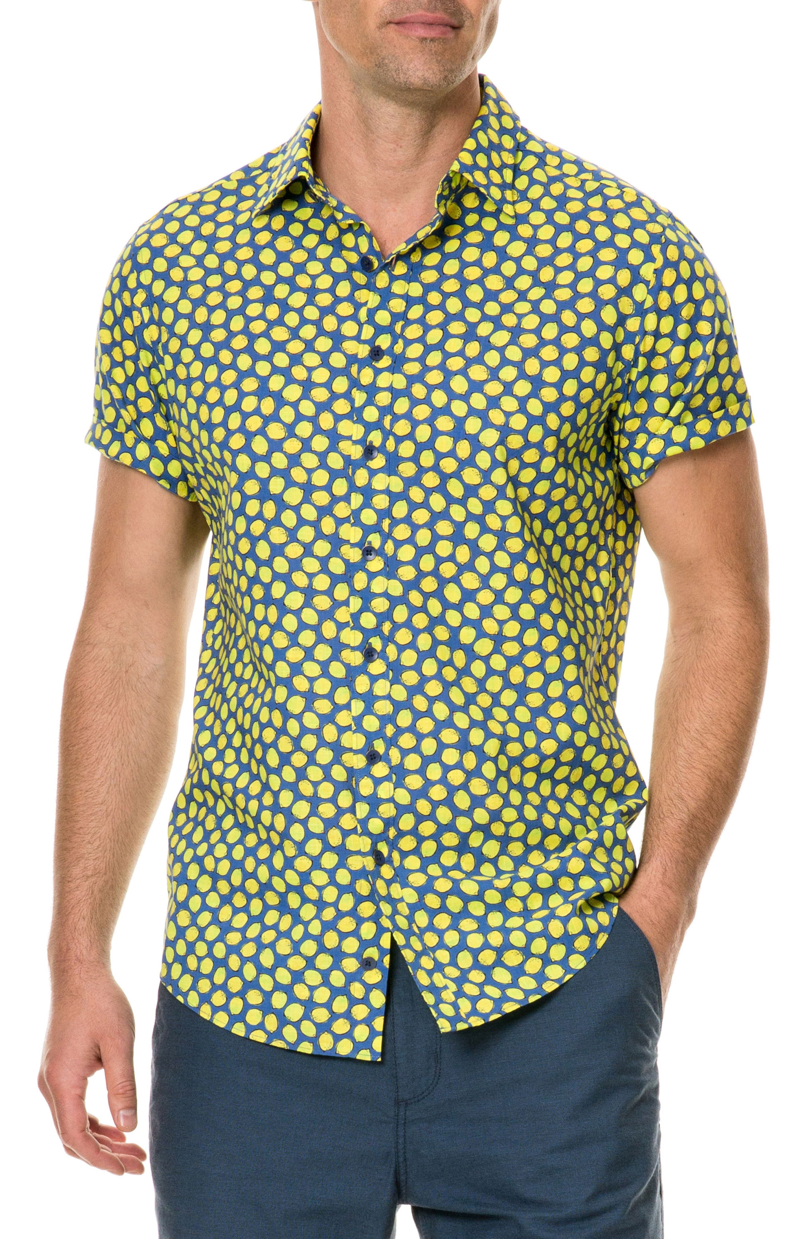 Davis Bay Regular Fit Sport Shirt,                         Main,                         color, AZURE