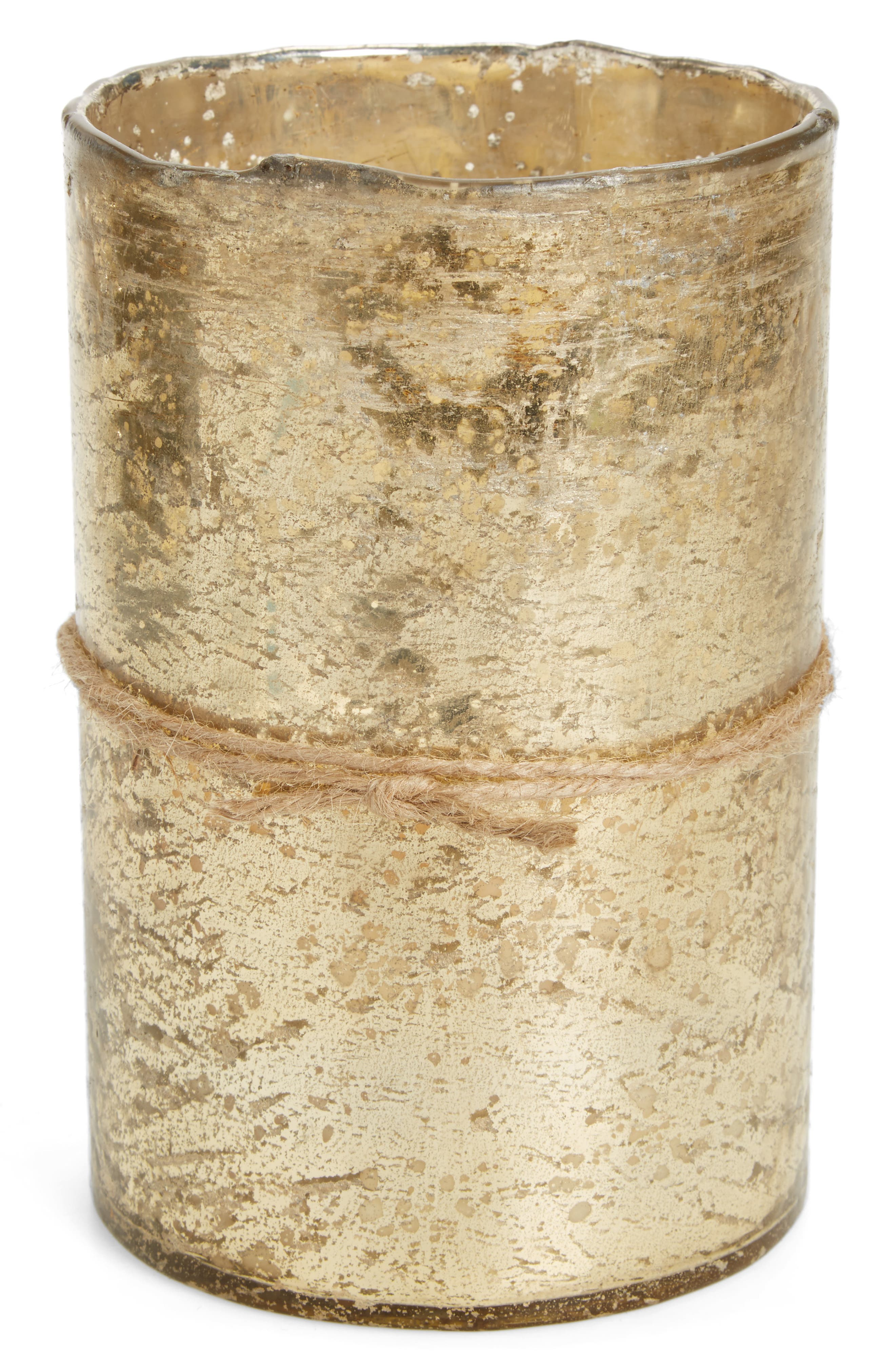 Scented Gold Hurricane Candle,                         Main,                         color, 710