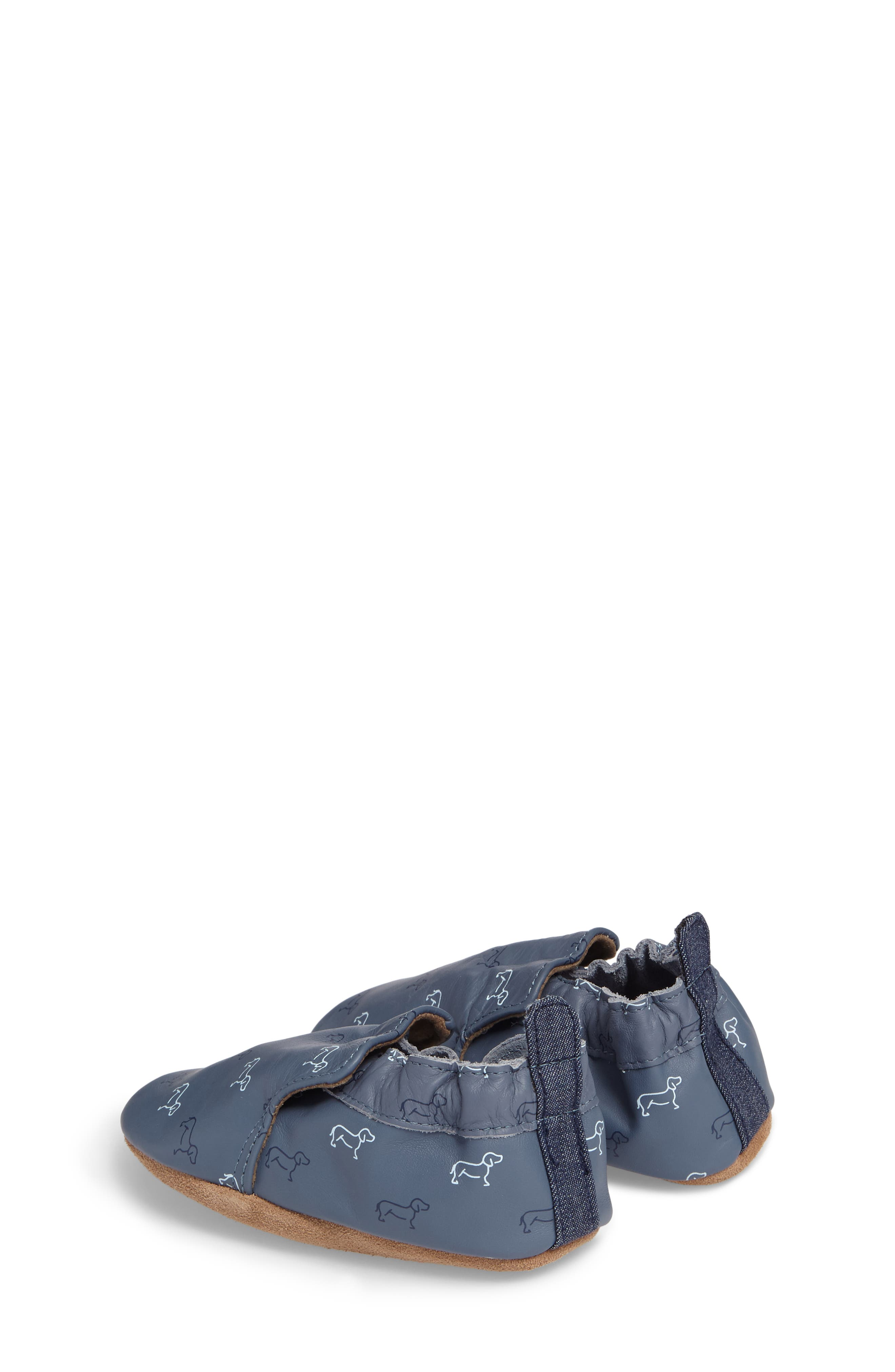 Puppy Love Crib Shoe,                             Alternate thumbnail 3, color,                             NAVY