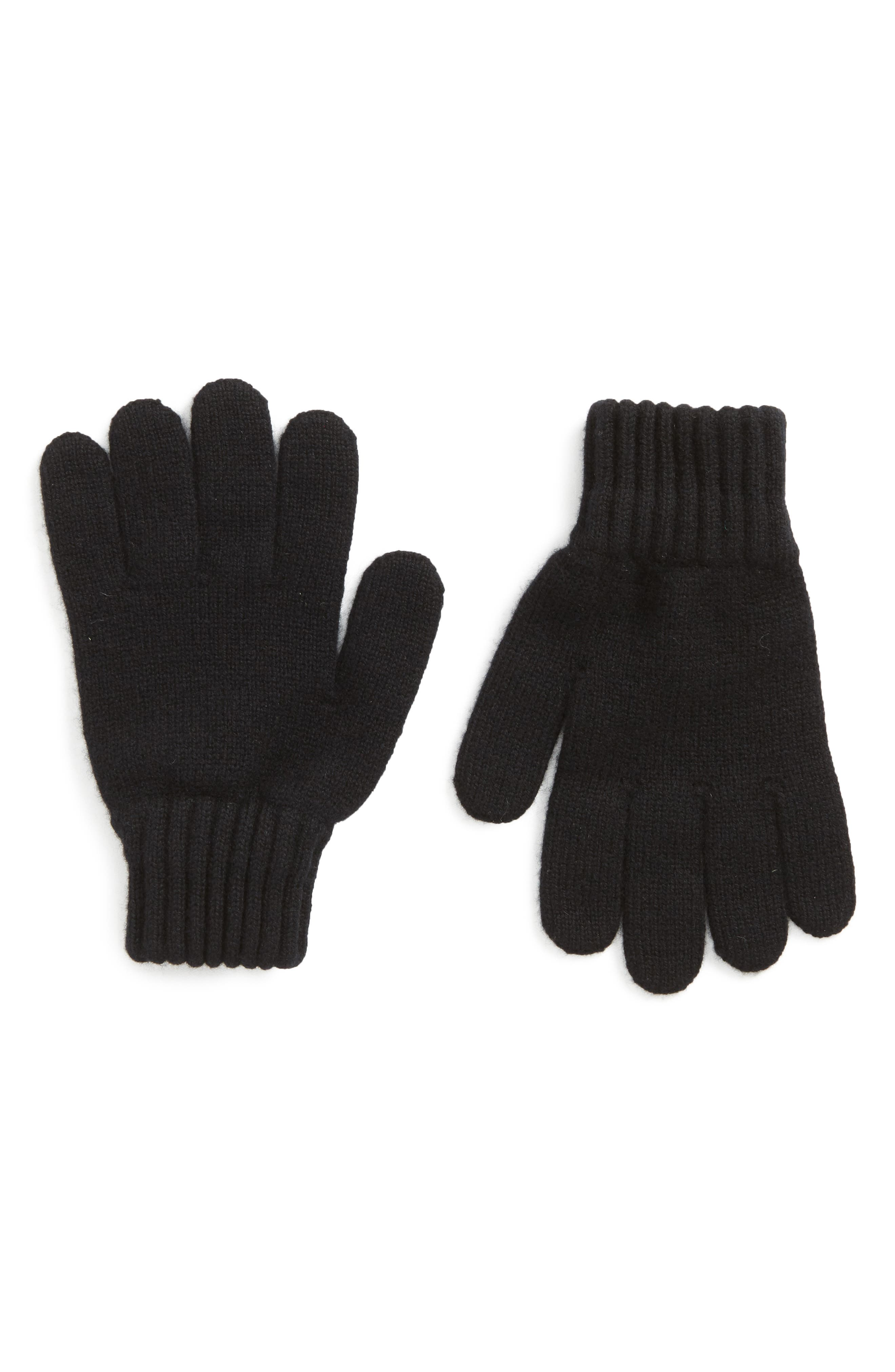 BARBOUR,                             Wool Gloves,                             Main thumbnail 1, color,                             001