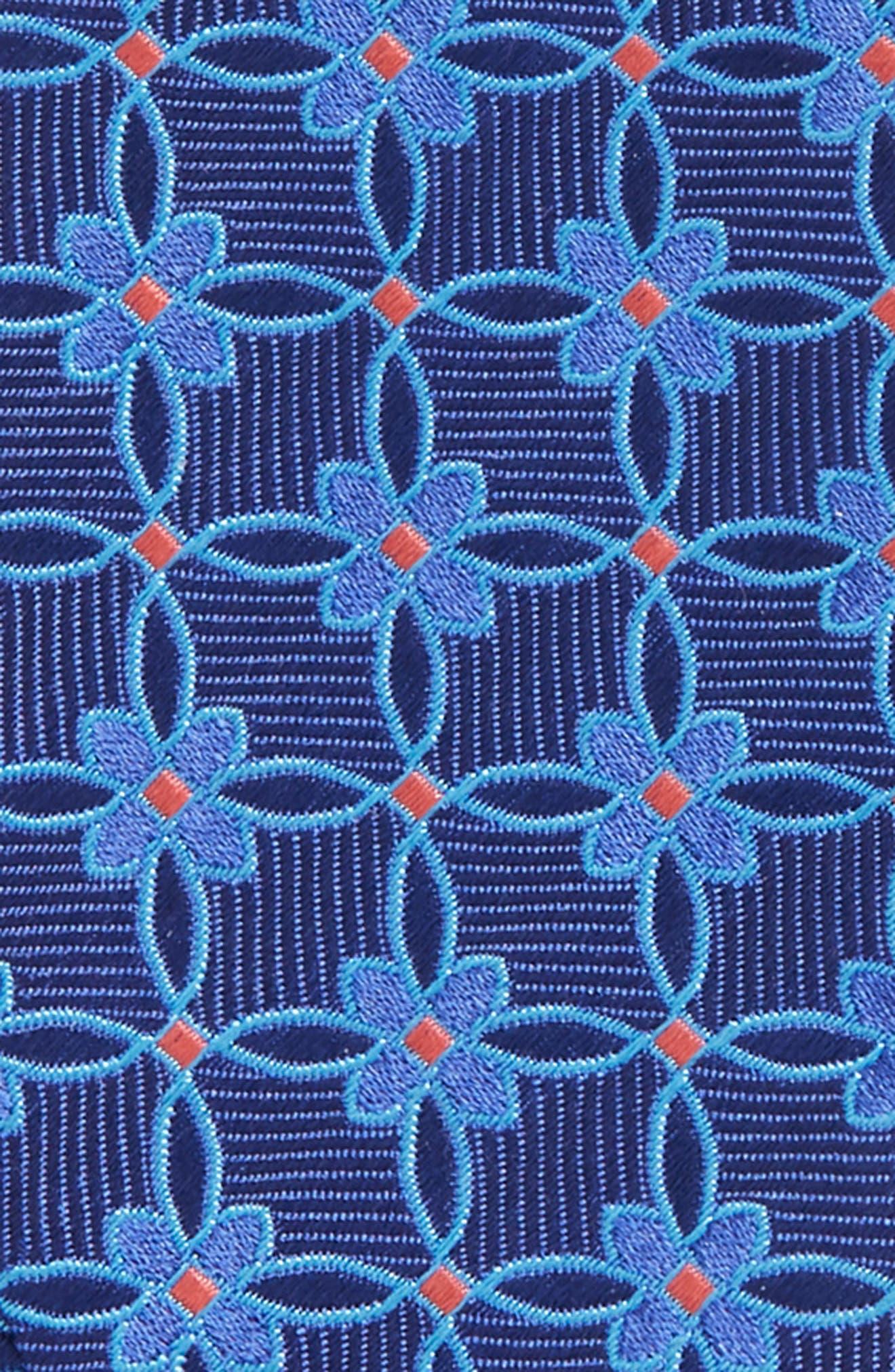 Geometric Silk Bow Tie,                             Alternate thumbnail 3, color,                             411