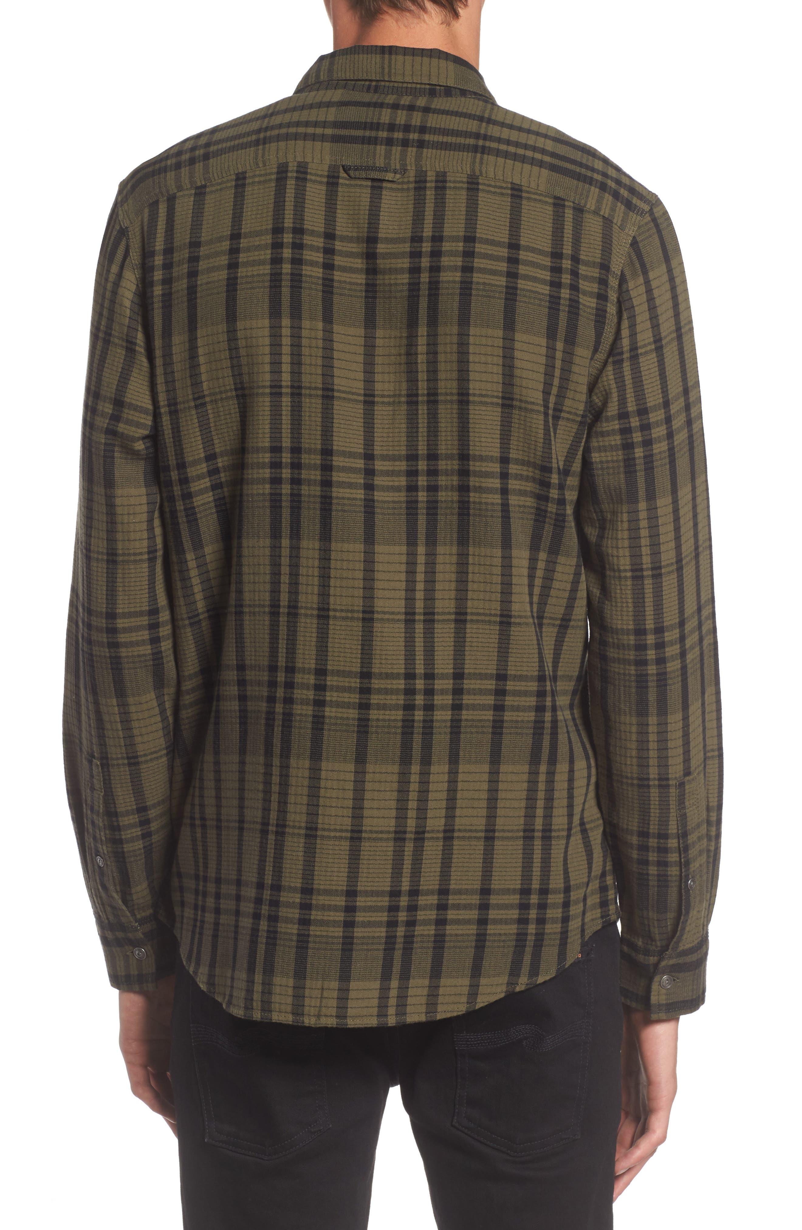 Hooper Plaid Sport Shirt,                             Alternate thumbnail 3, color,