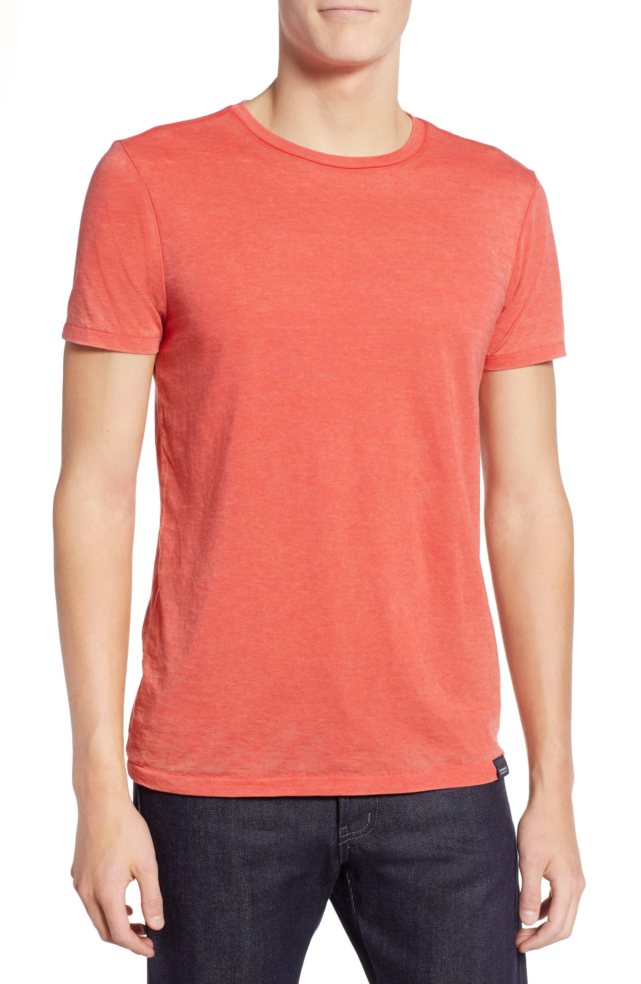 Burnout T-Shirt,                         Main,                         color, RED MELANGE