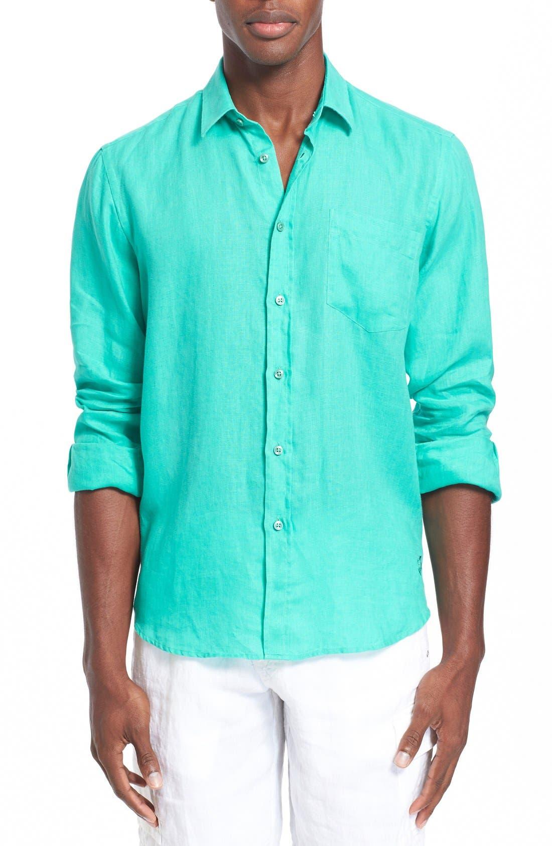 'Caroubier' Linen Shirt,                             Main thumbnail 7, color,