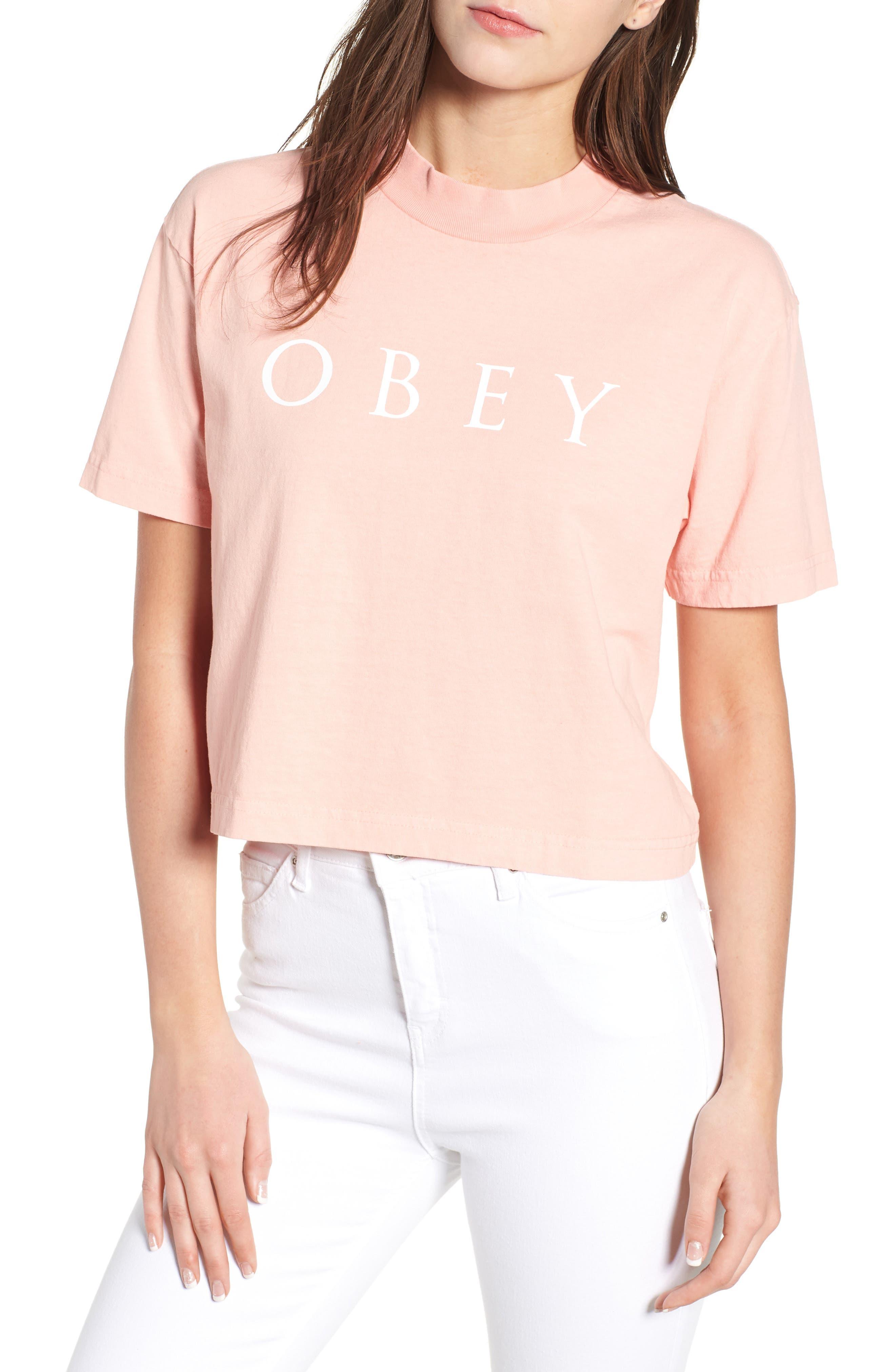 Novel Obey II Crop Tee,                         Main,                         color, 800