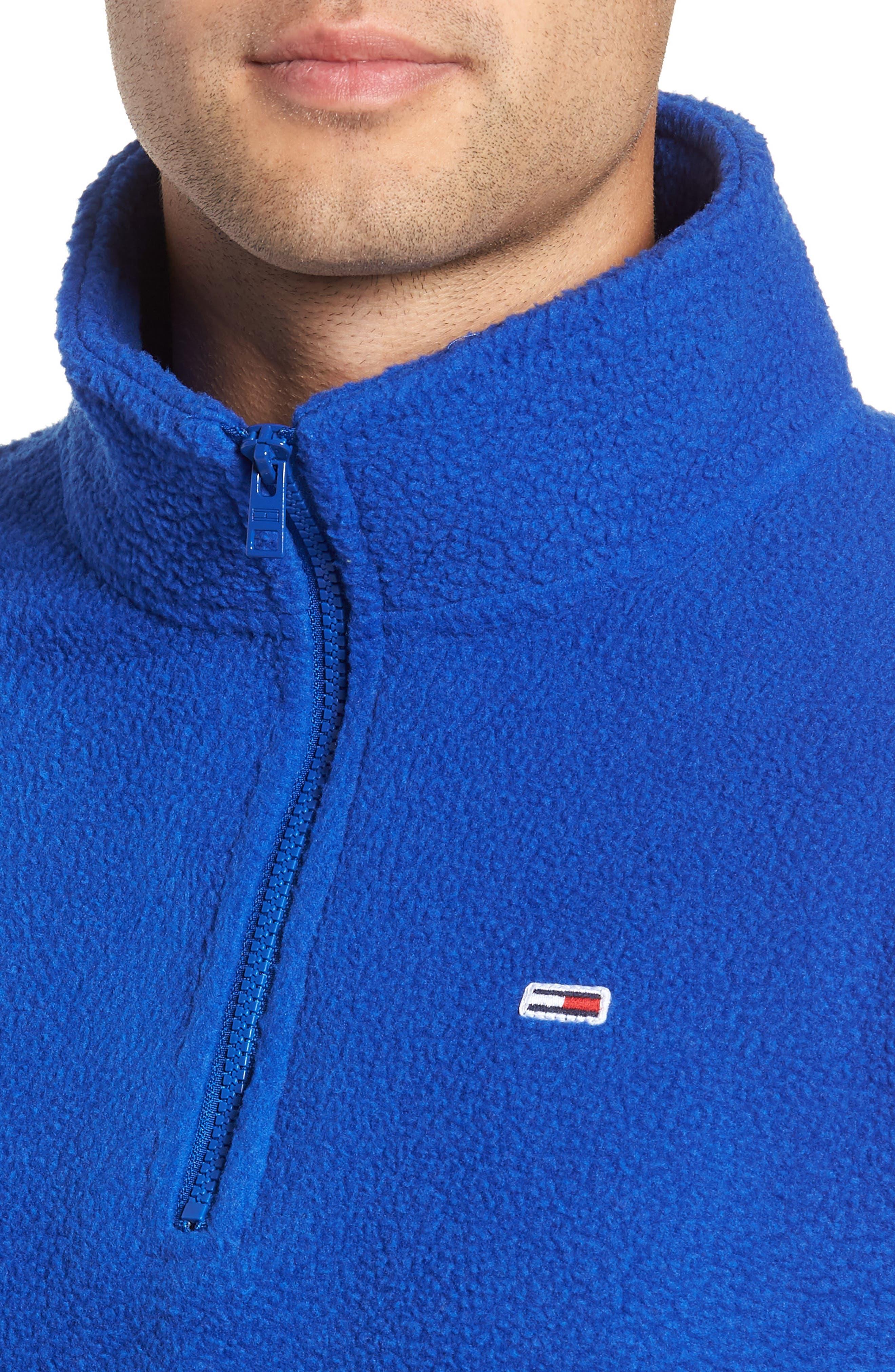 TJM Classics Half Zip Fleece Pullover,                             Alternate thumbnail 4, color,                             SURF THE WEB