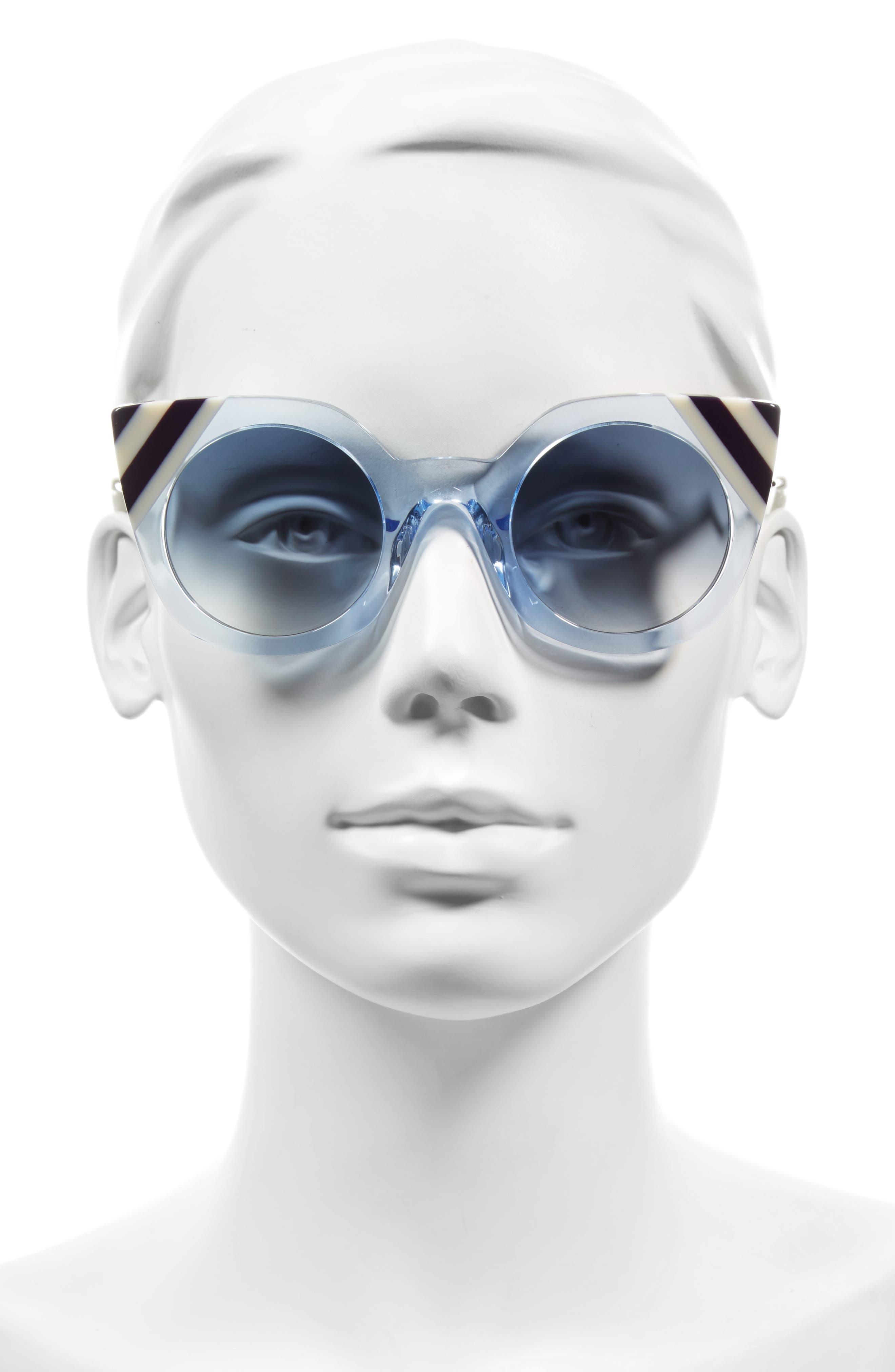 47mm Cat Eye Sunglasses,                             Alternate thumbnail 6, color,