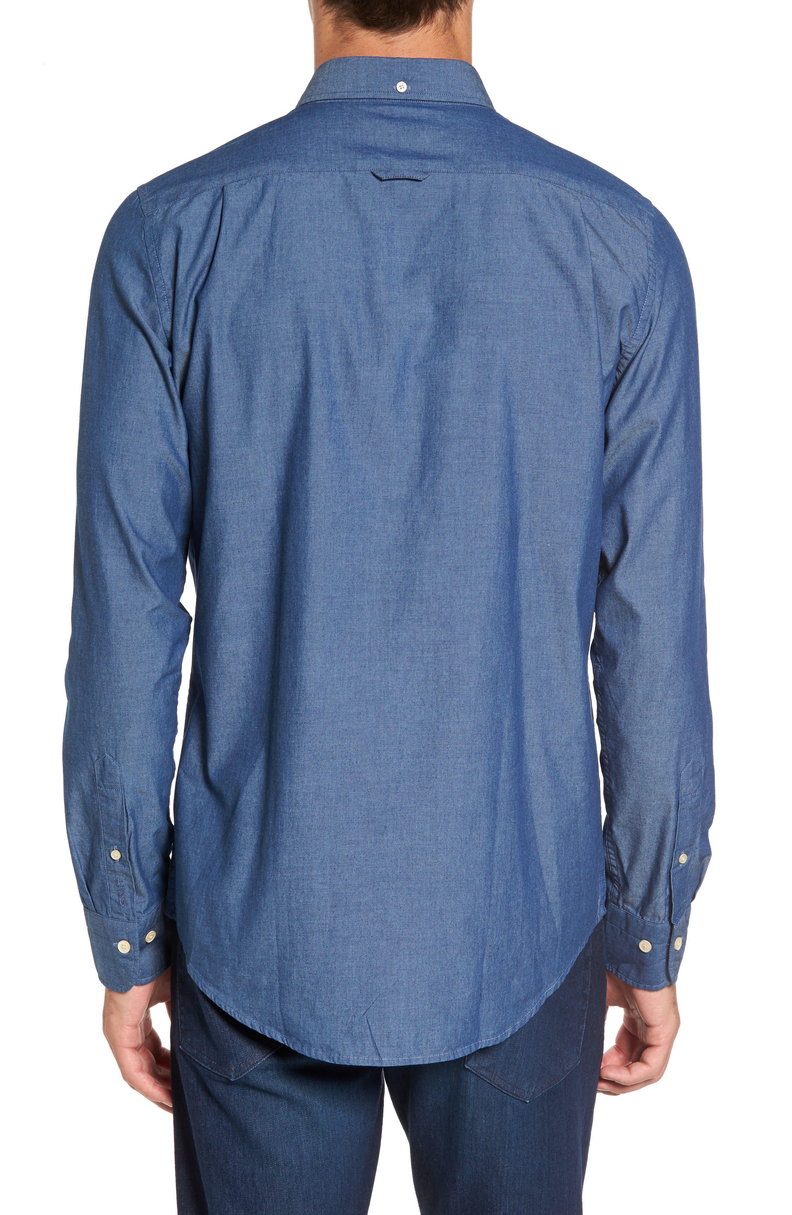 Tech Slim Fit Varsity Stripe Sport Shirt,                             Alternate thumbnail 2, color,                             433