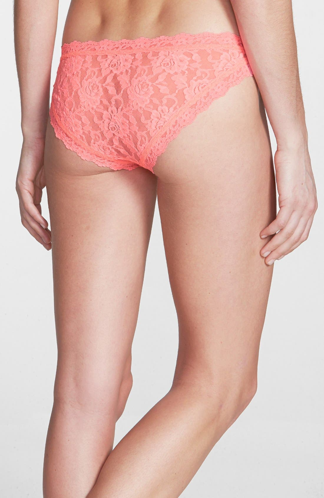 'Signature Lace' Brazilian Bikini,                             Alternate thumbnail 100, color,