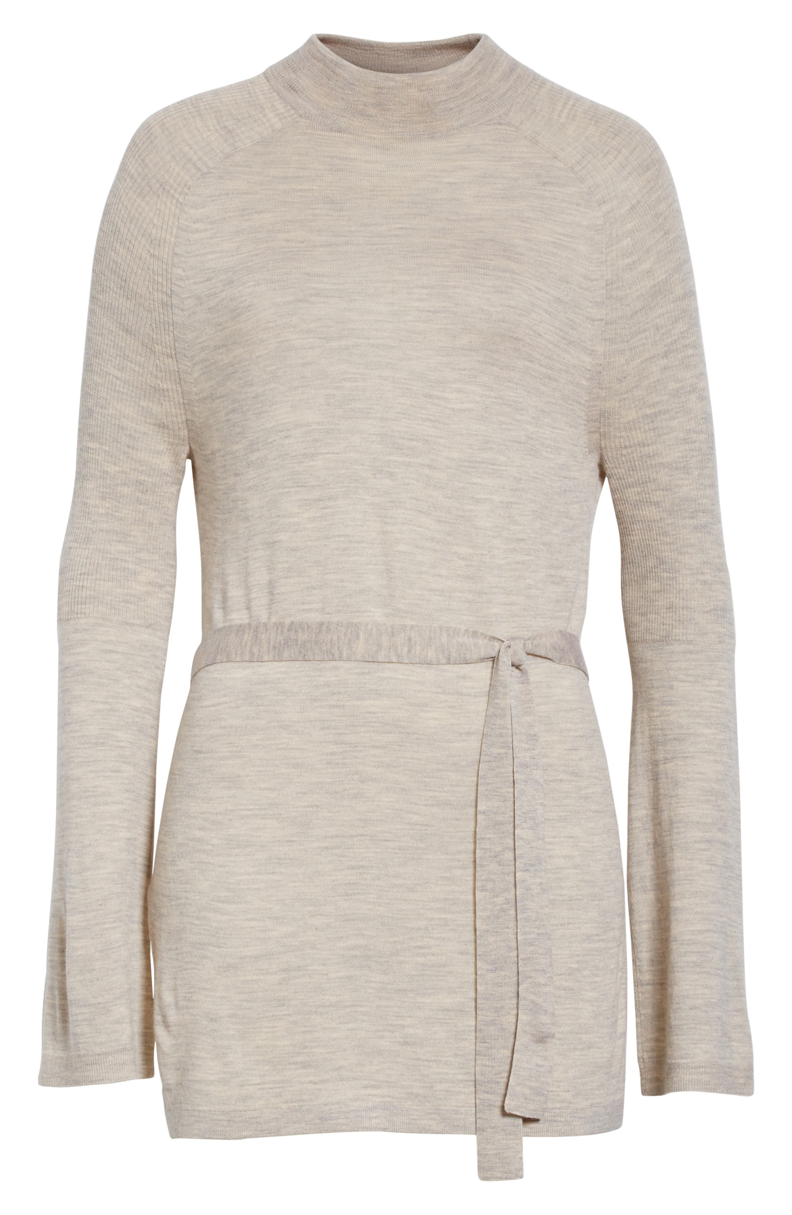 Wool Belted Tunic,                             Alternate thumbnail 6, color,                             205