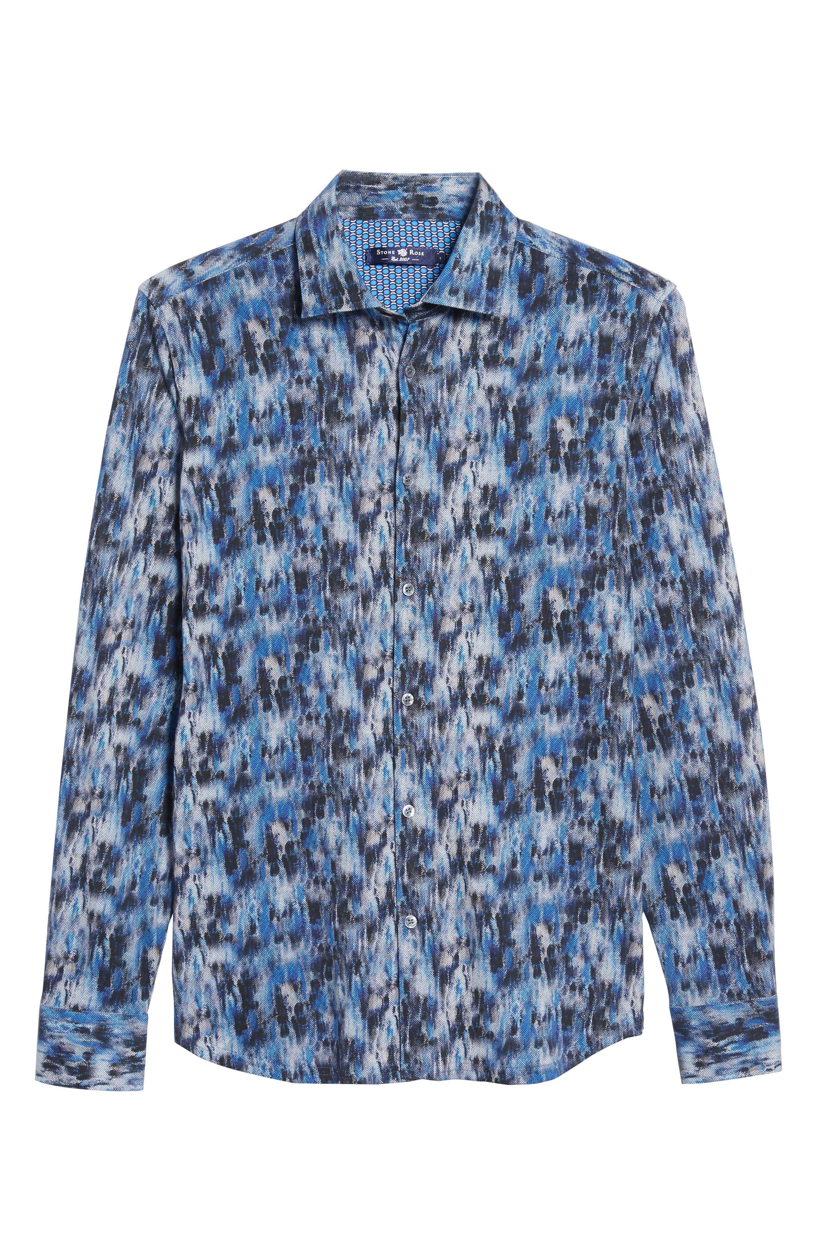 Slim Fit Herringbone FX Sport Shirt,                             Alternate thumbnail 6, color,                             430