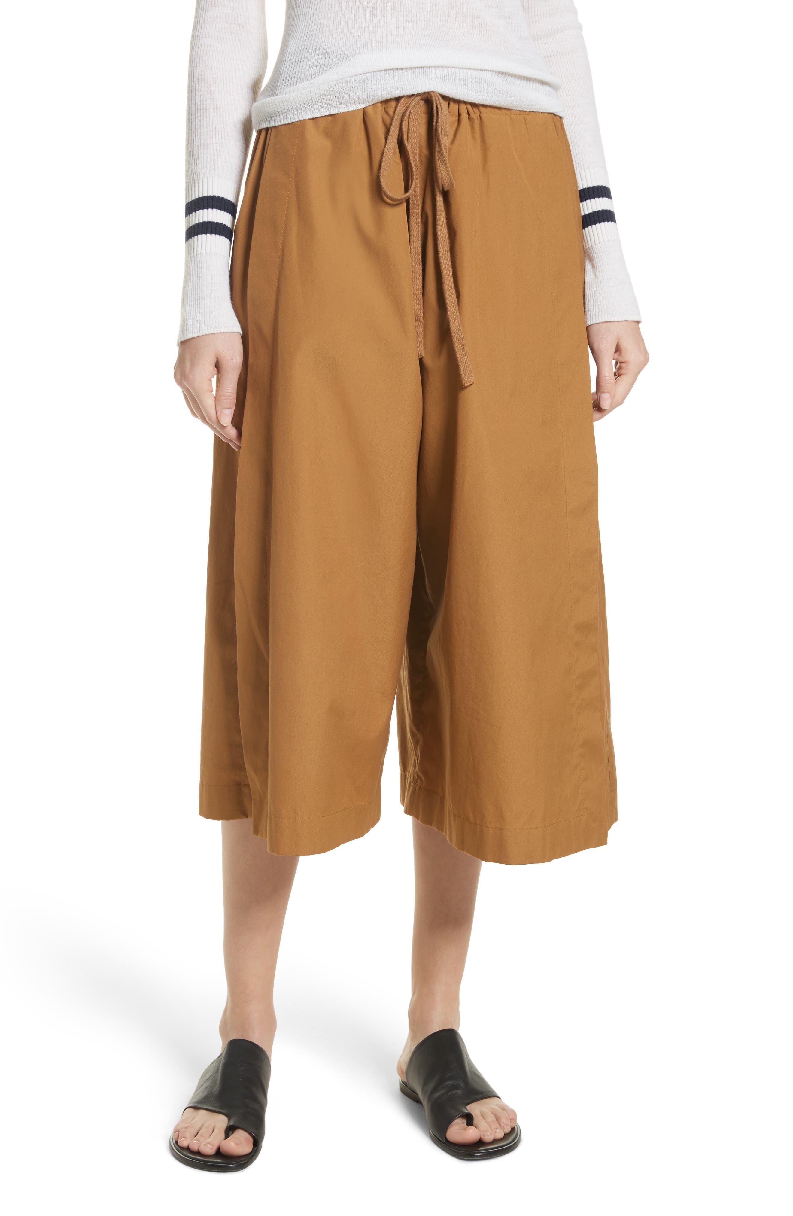 Side Slit Culottes,                         Main,                         color,