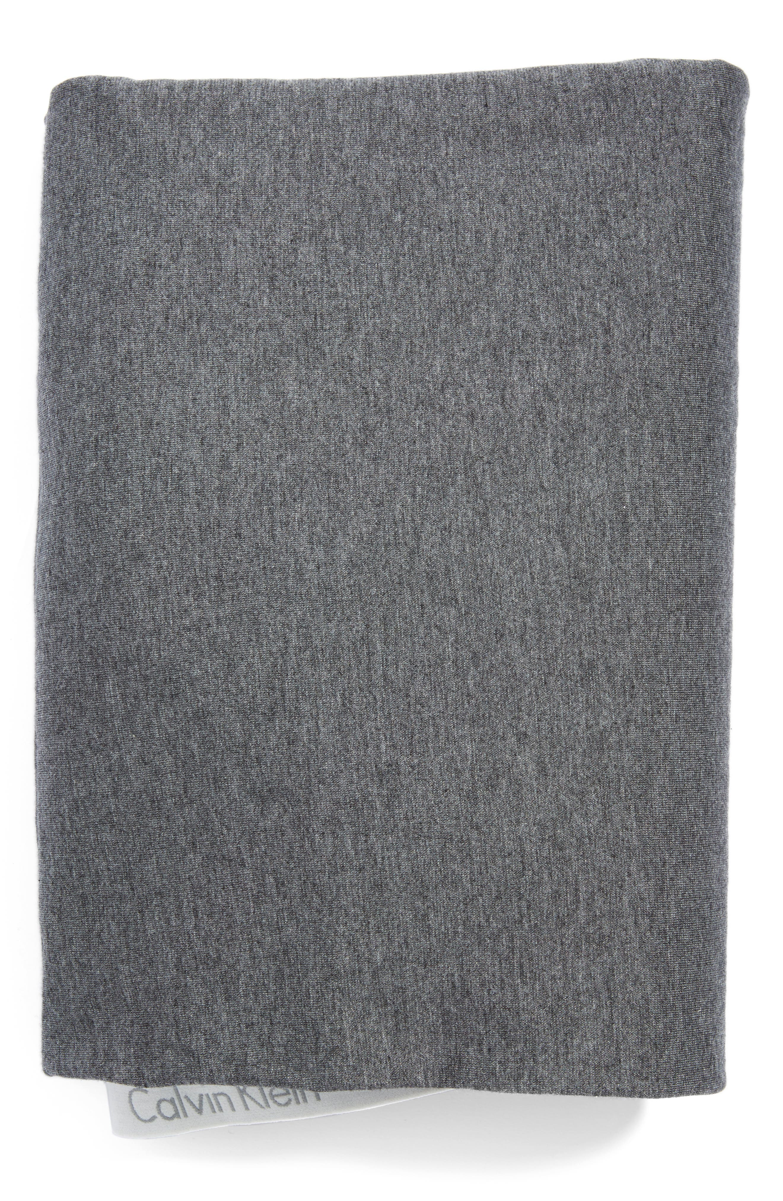 Modern Cotton Collection Cotton & Modal Fitted Sheet, Main, color, CHARCOAL