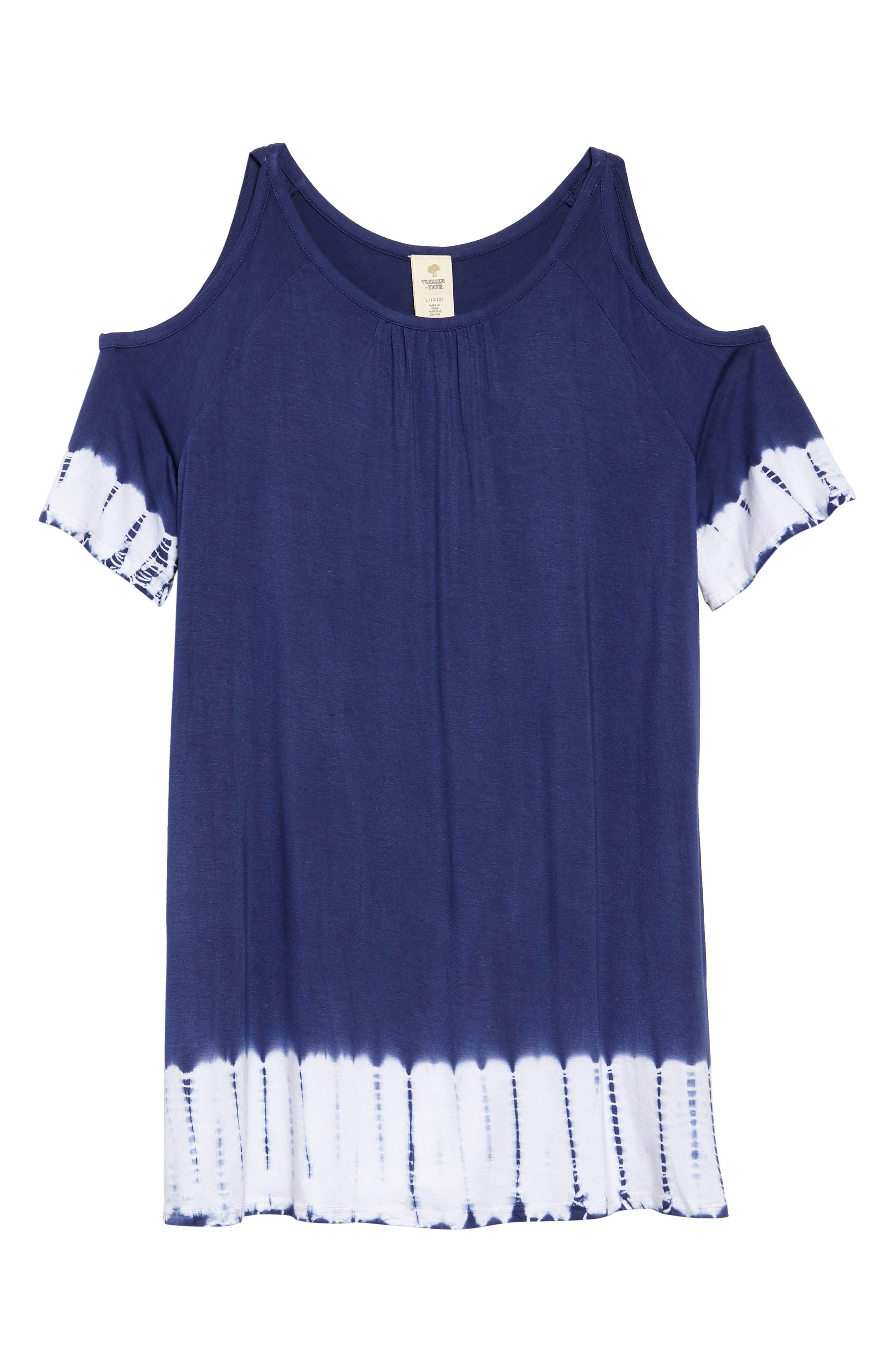 Drapey Cold Shoulder Cover-Up Dress,                             Main thumbnail 1, color,                             411