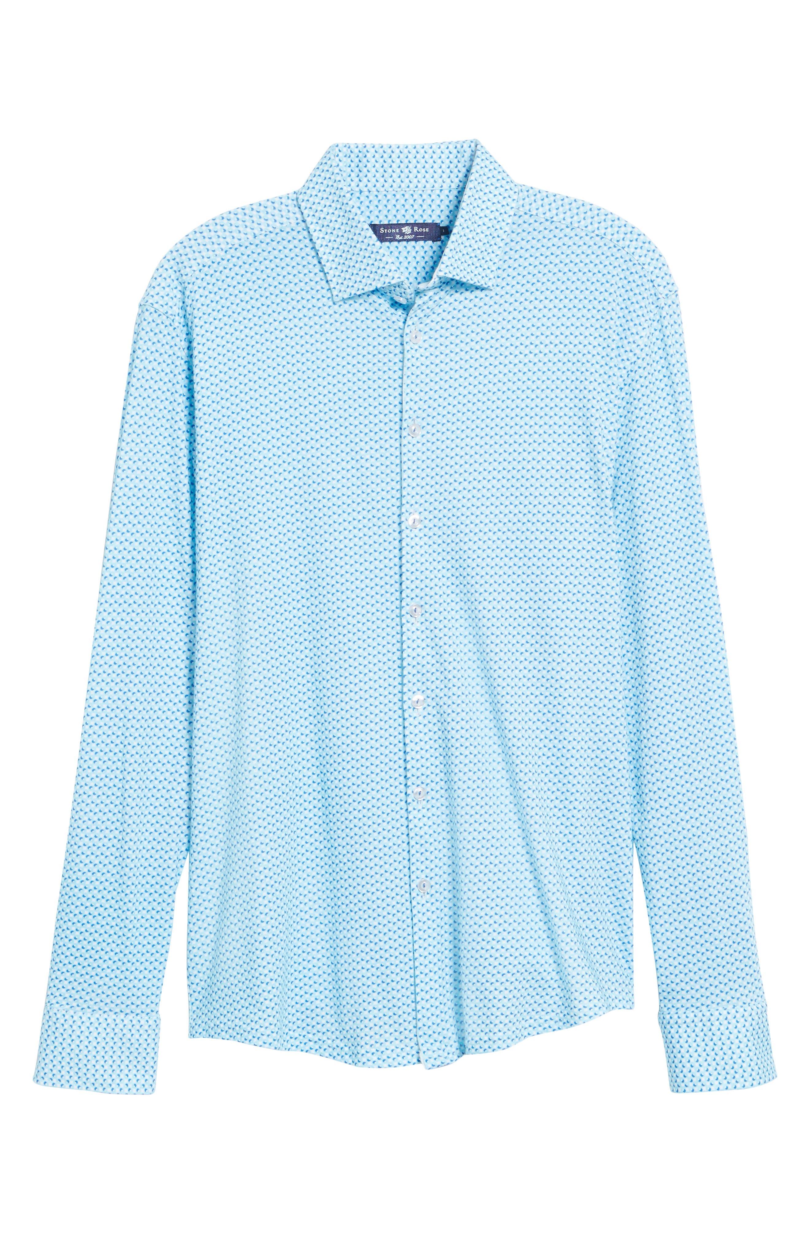 Contemporary Fit Circle Print Sport Shirt,                             Alternate thumbnail 6, color,                             400