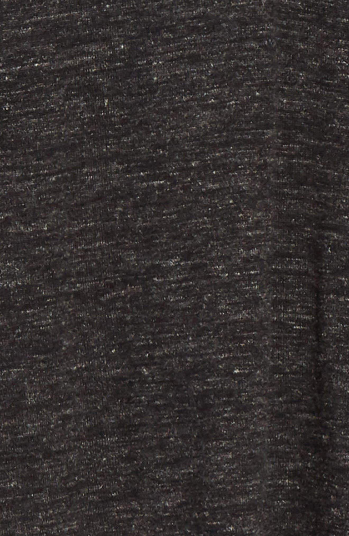 Mélange Henley Sweater,                             Alternate thumbnail 7, color,                             DARK CHARCOAL