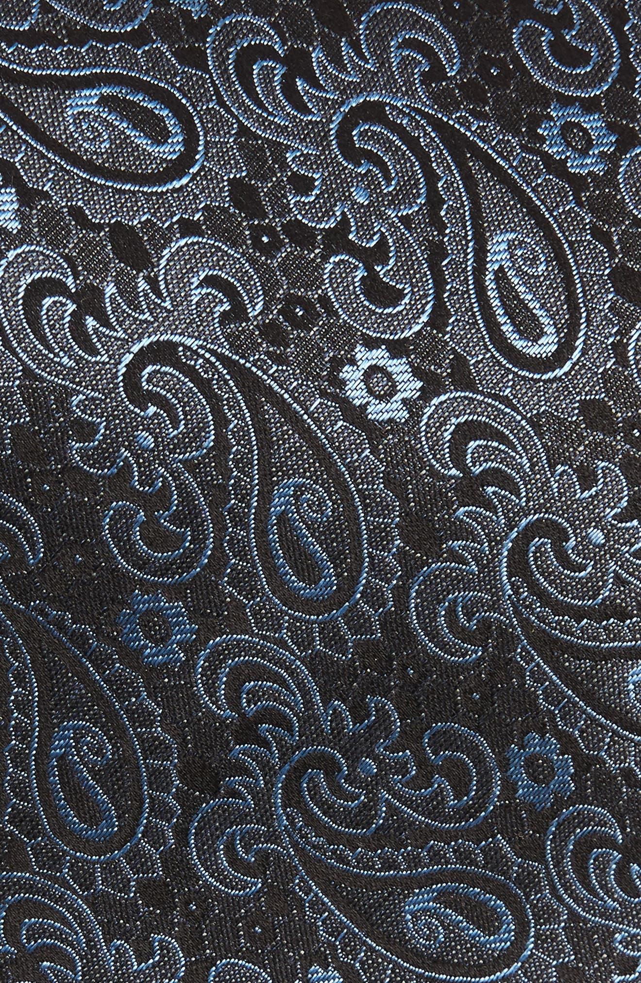 Paisley Silk Tie,                             Alternate thumbnail 2, color,                             CHARCOAL