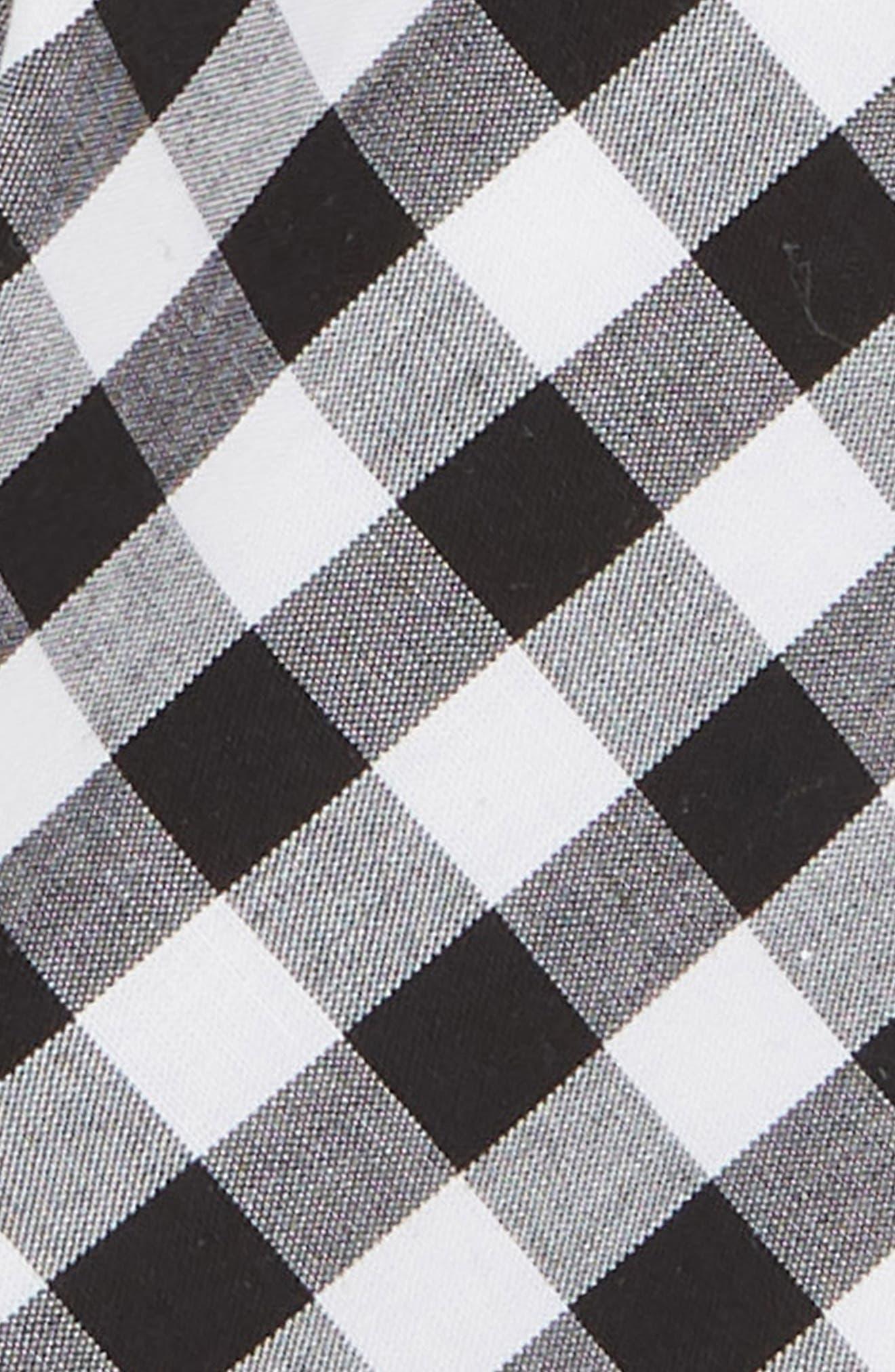 Check Cotton Tie,                             Alternate thumbnail 2, color,                             BLACK