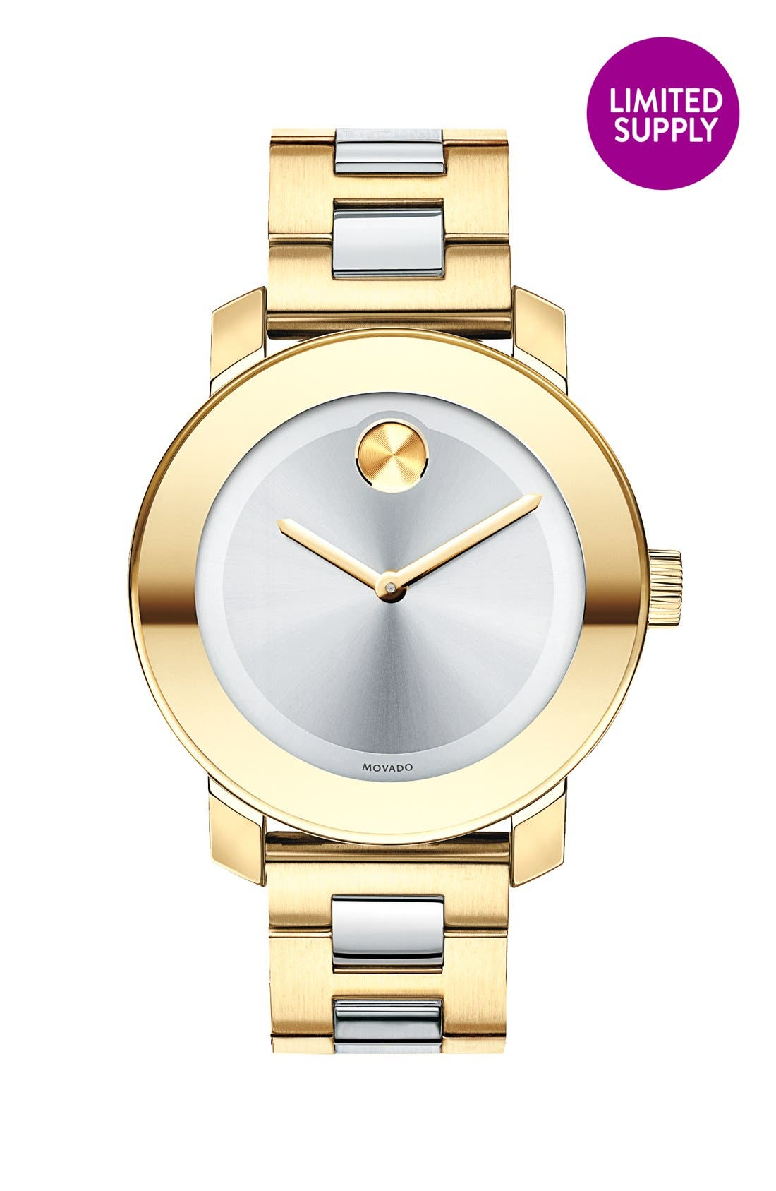 'Bold' Round Bracelet Watch, 36mm,                         Main,                         color, 710