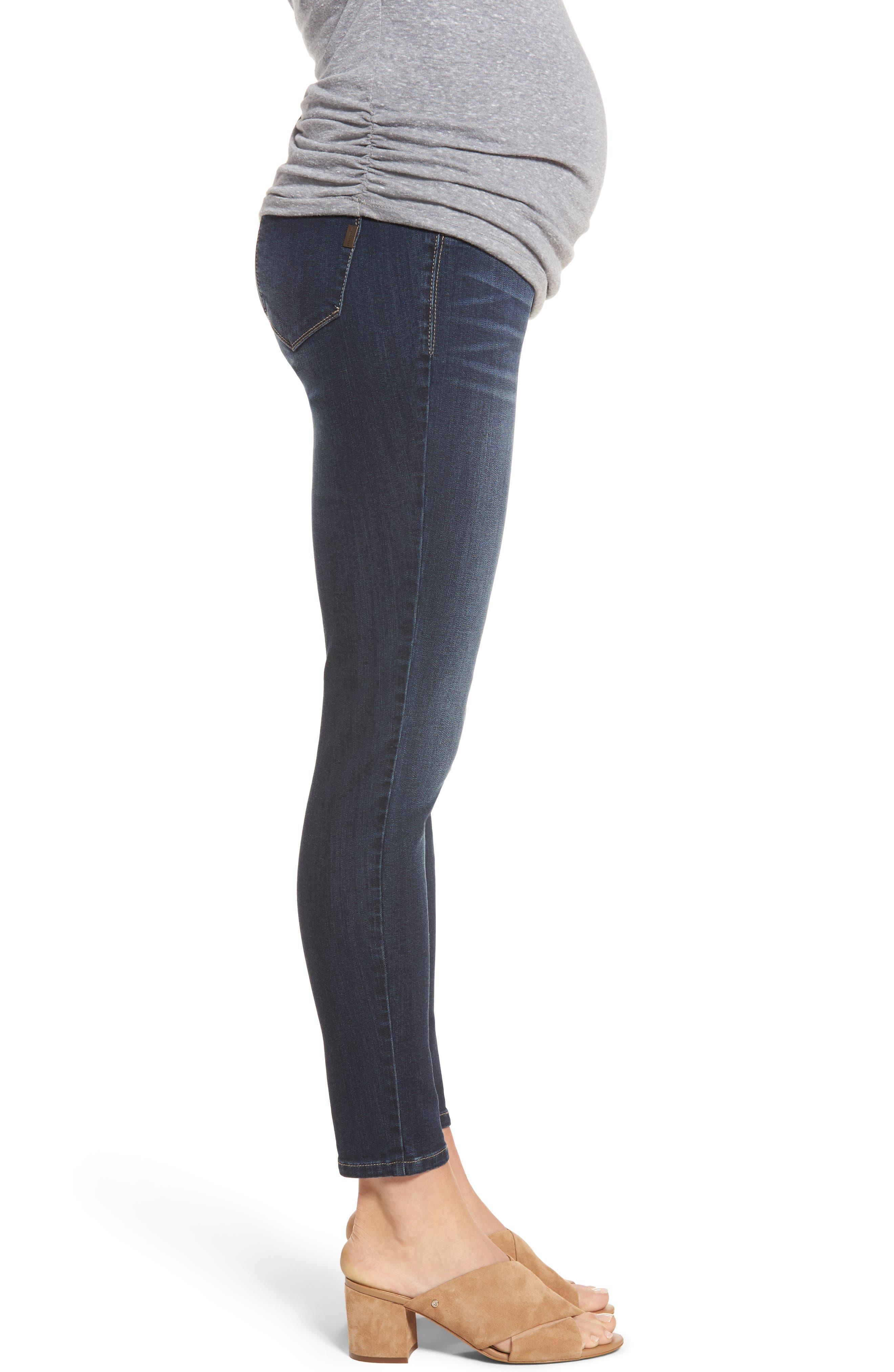 Maternity Ankle Skinny Jeans,                             Alternate thumbnail 3, color,                             LENNOX