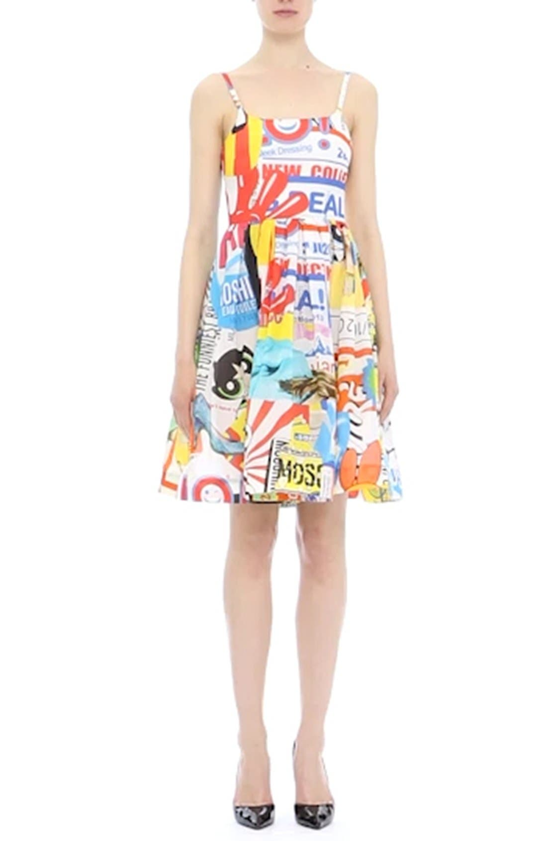 'The Powerpuff Girls<sup>®</sup>' Fit & Flare Dress,                             Alternate thumbnail 2, color,                             122