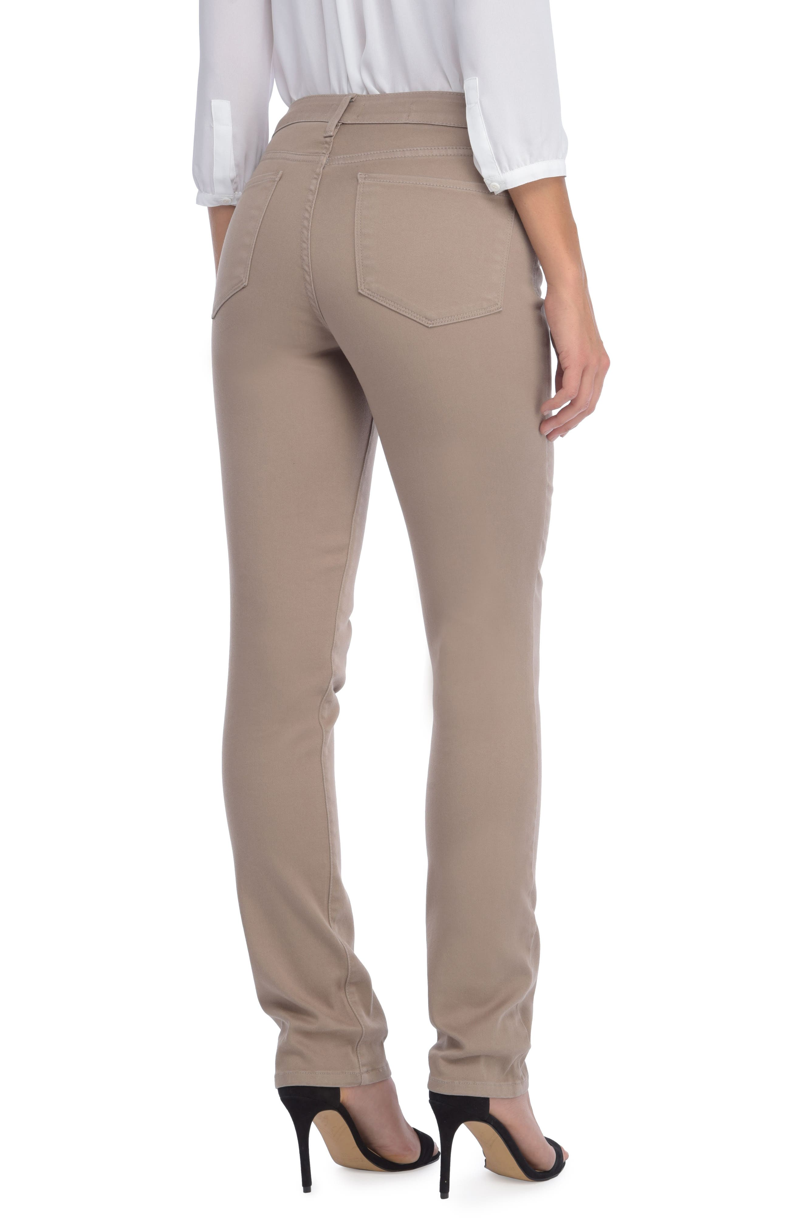 'Sheri' Stretch Twill Slim Leg Pants,                             Alternate thumbnail 5, color,
