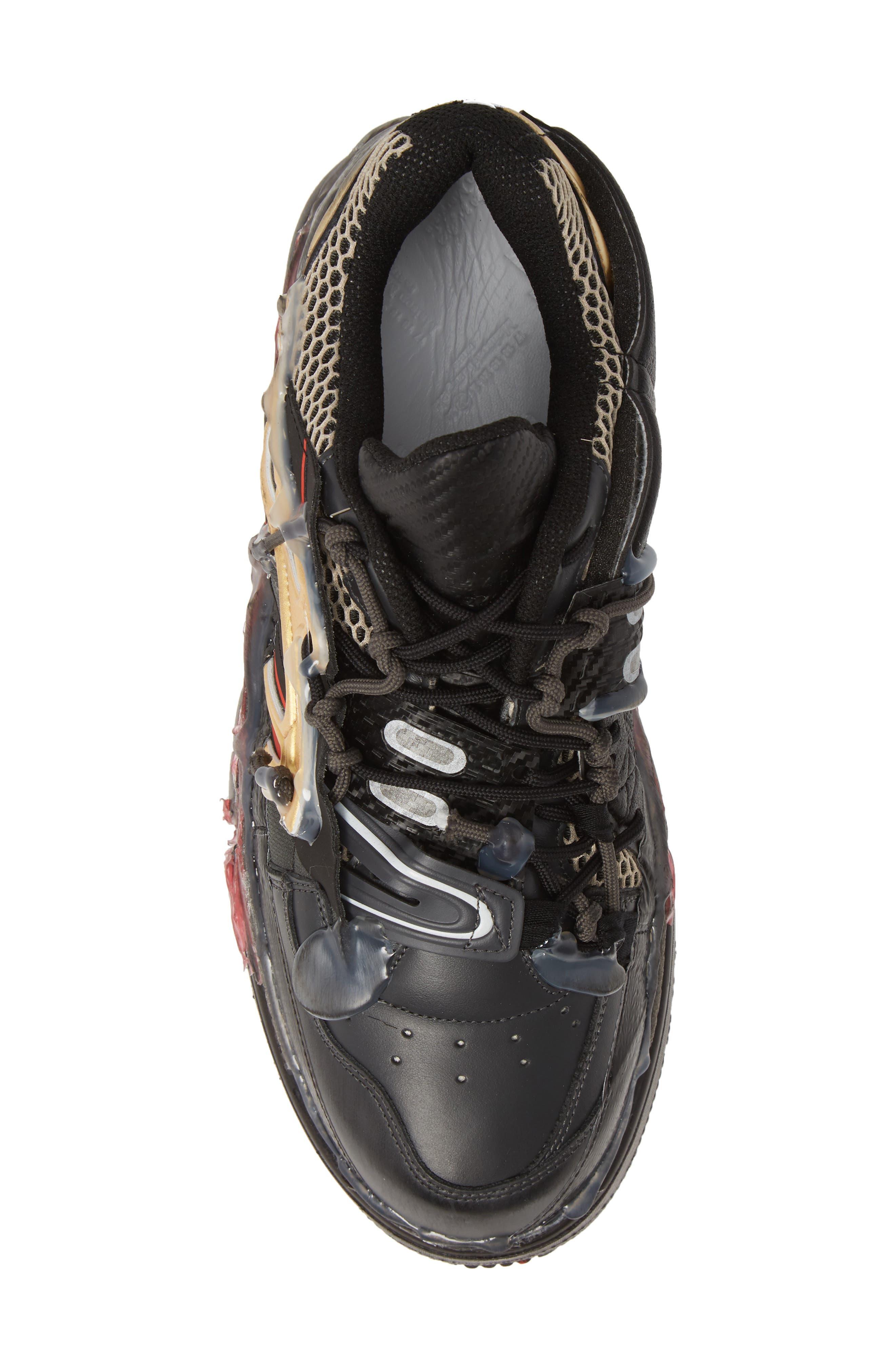 MM6 MAISON MARGIELA,                             Maison Margiela Fusion Sneaker,                             Alternate thumbnail 5, color,                             BLACK/ GOLD/ RED