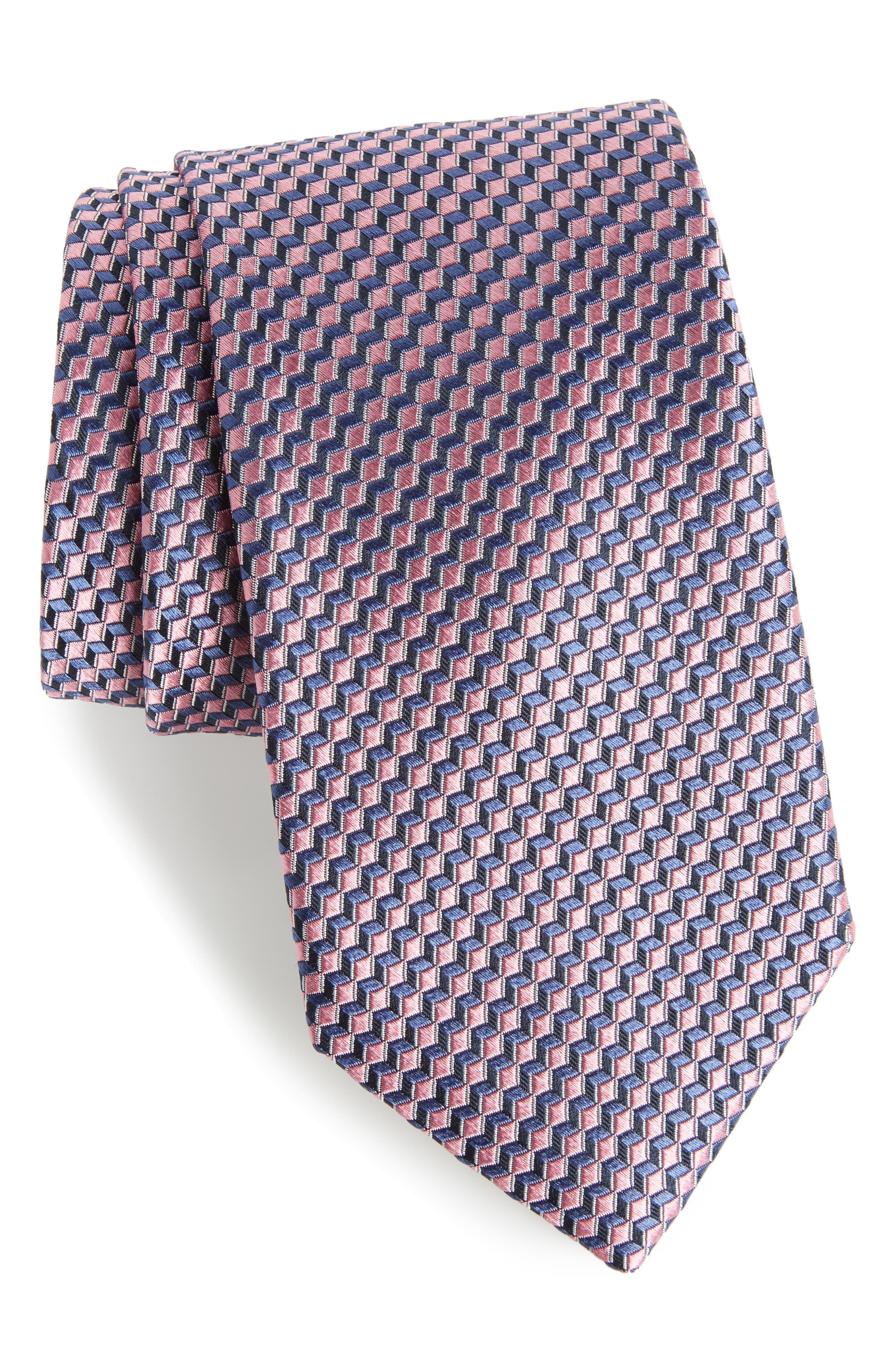 Doria Geometric Silk Tie,                             Main thumbnail 4, color,