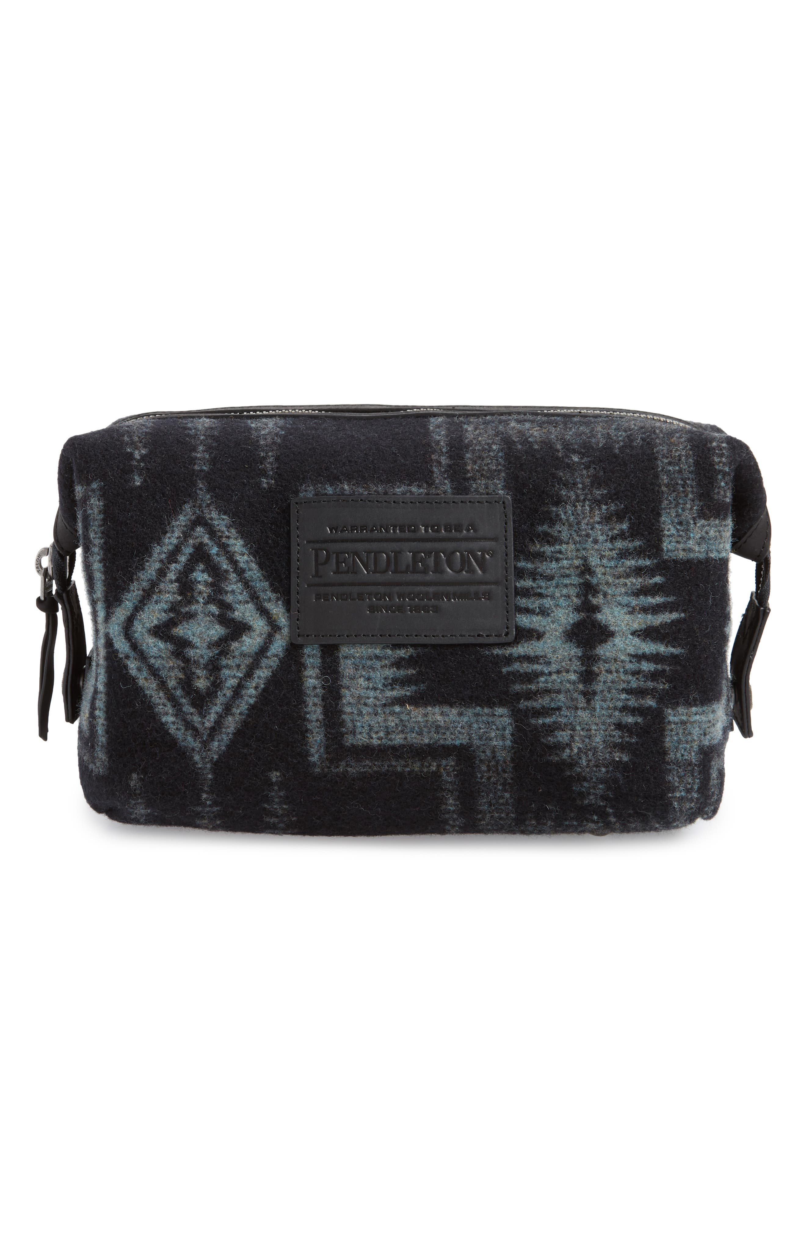 Essential Travel Pouch,                         Main,                         color, HARDING SHALE