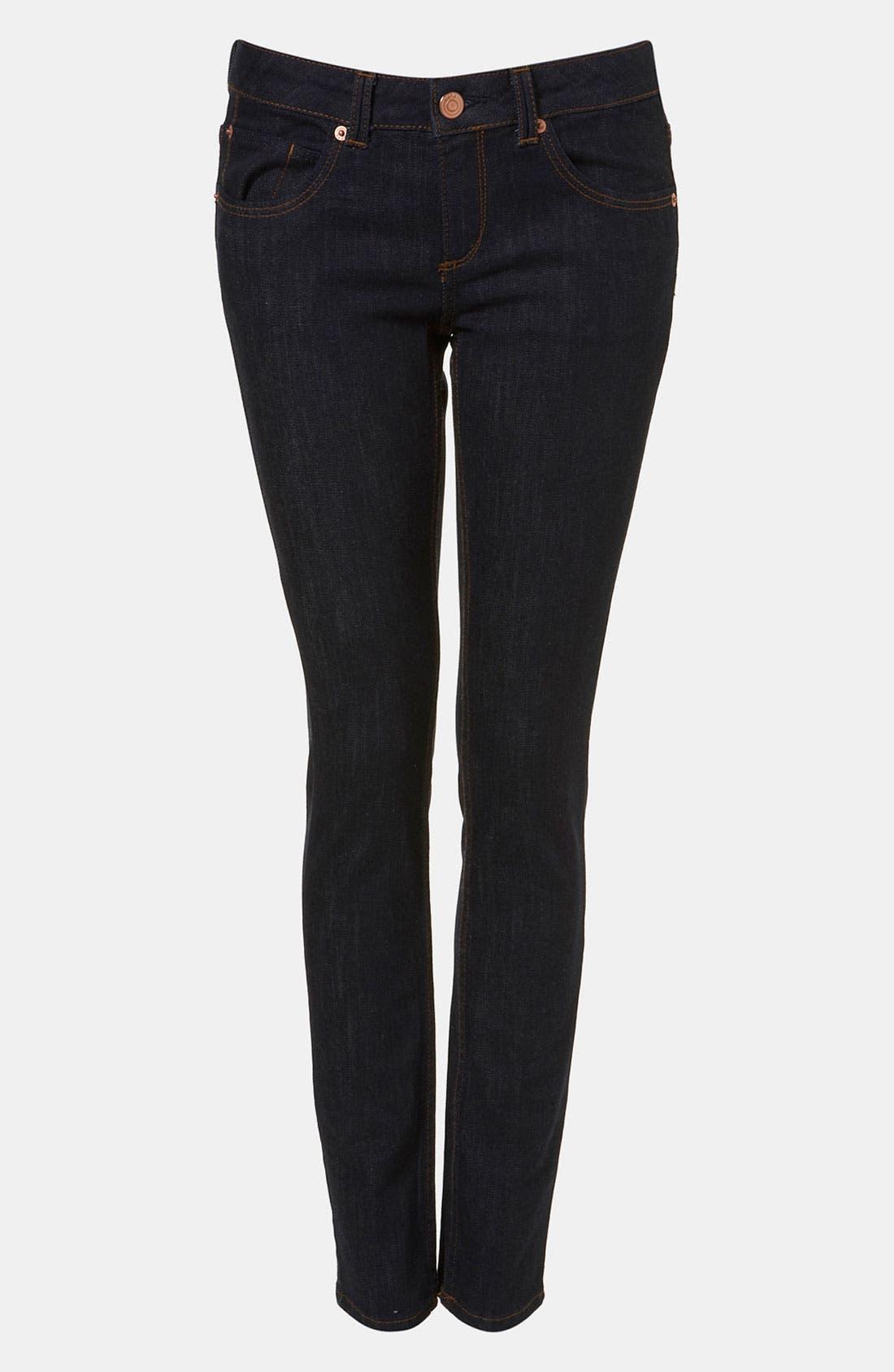 Moto 'Baxter' Skinny Jeans,                             Main thumbnail 1, color,                             401