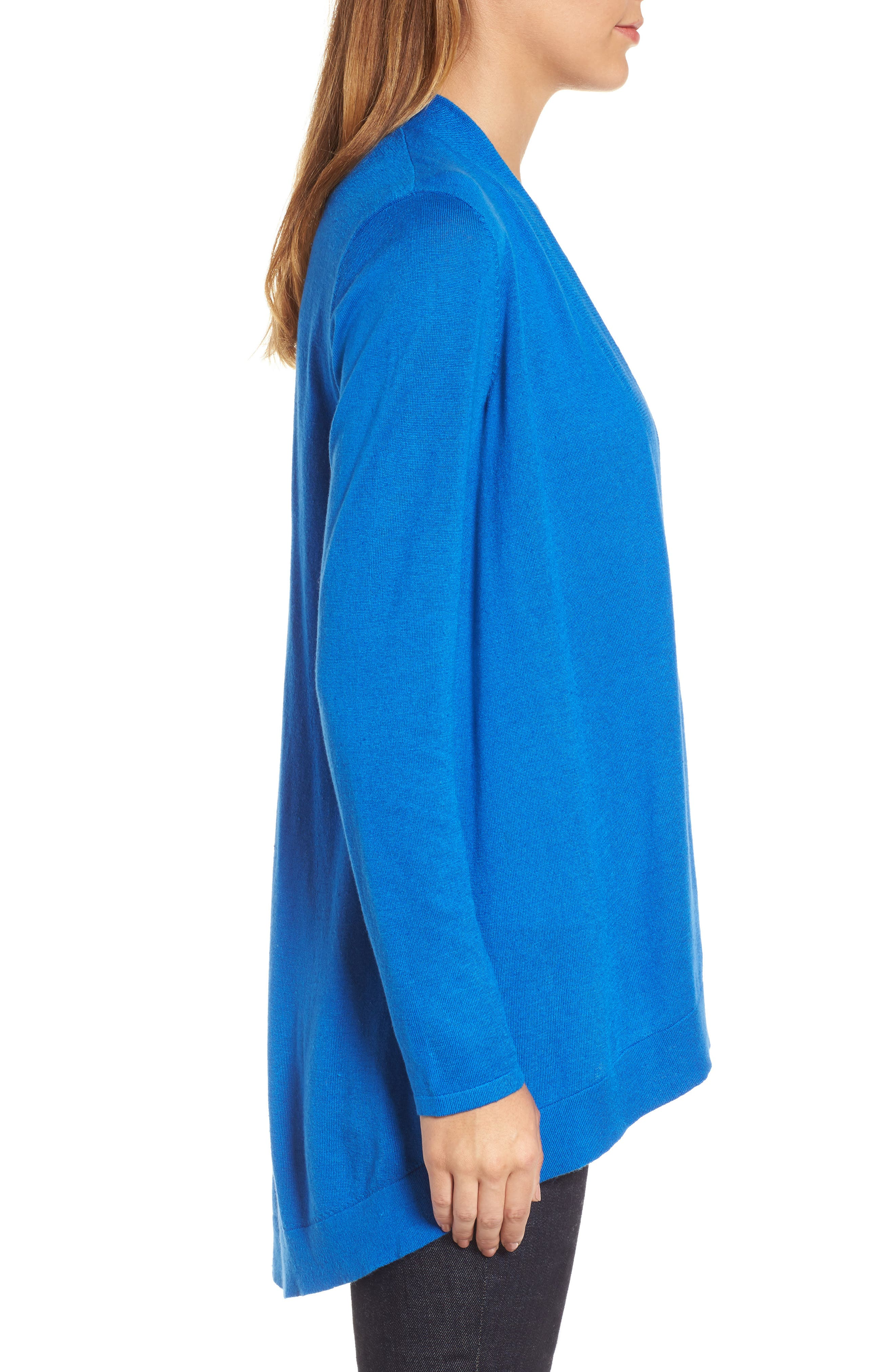 Tie Waist Tencel<sup>®</sup> Lyocell Blend Cardigan,                             Alternate thumbnail 17, color,