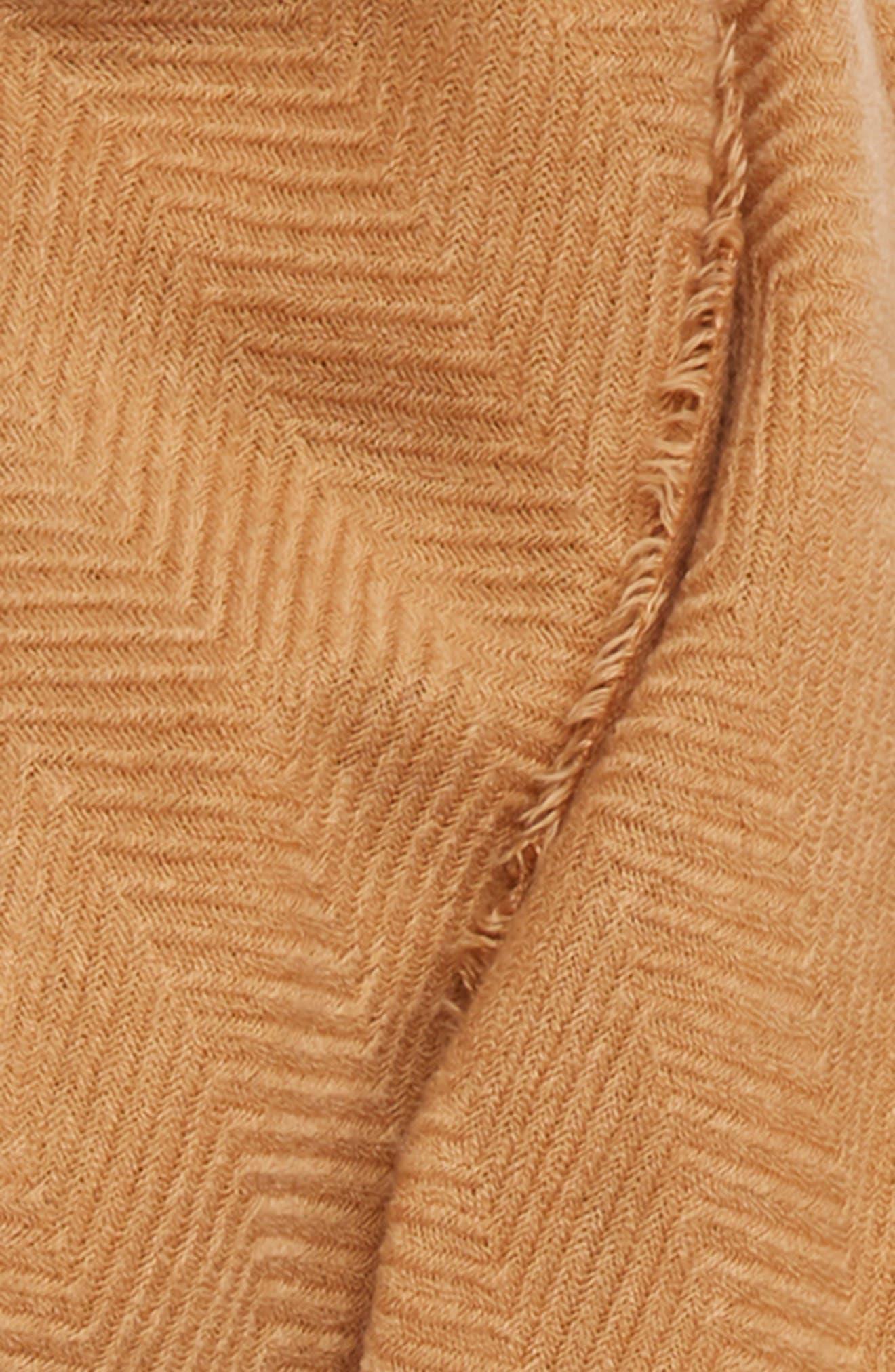 Oversize Blanket Scarf,                             Alternate thumbnail 3, color,                             CAMEL