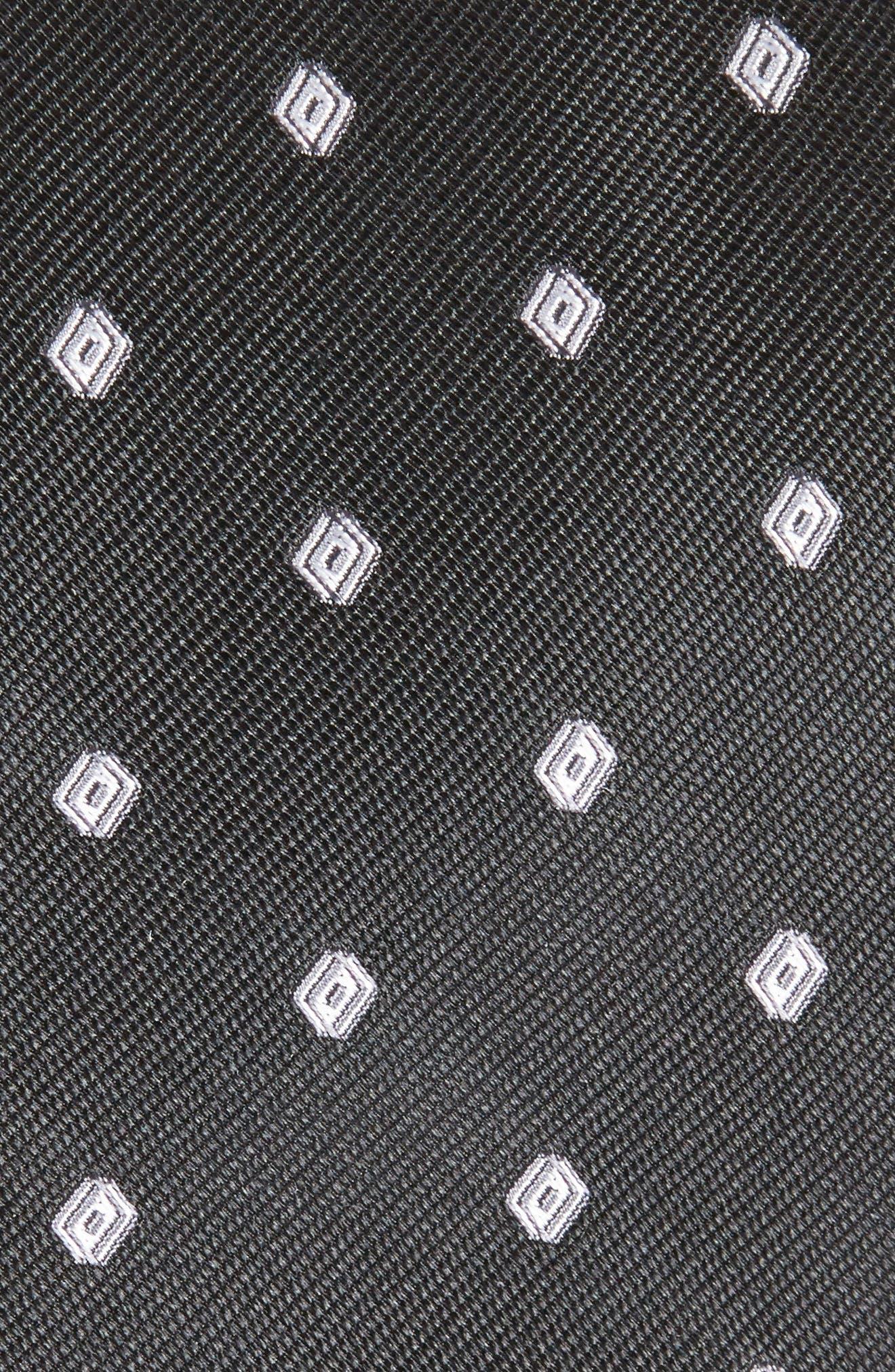 Kaleri Neat Diamond Grid Silk Tie,                             Alternate thumbnail 2, color,                             001
