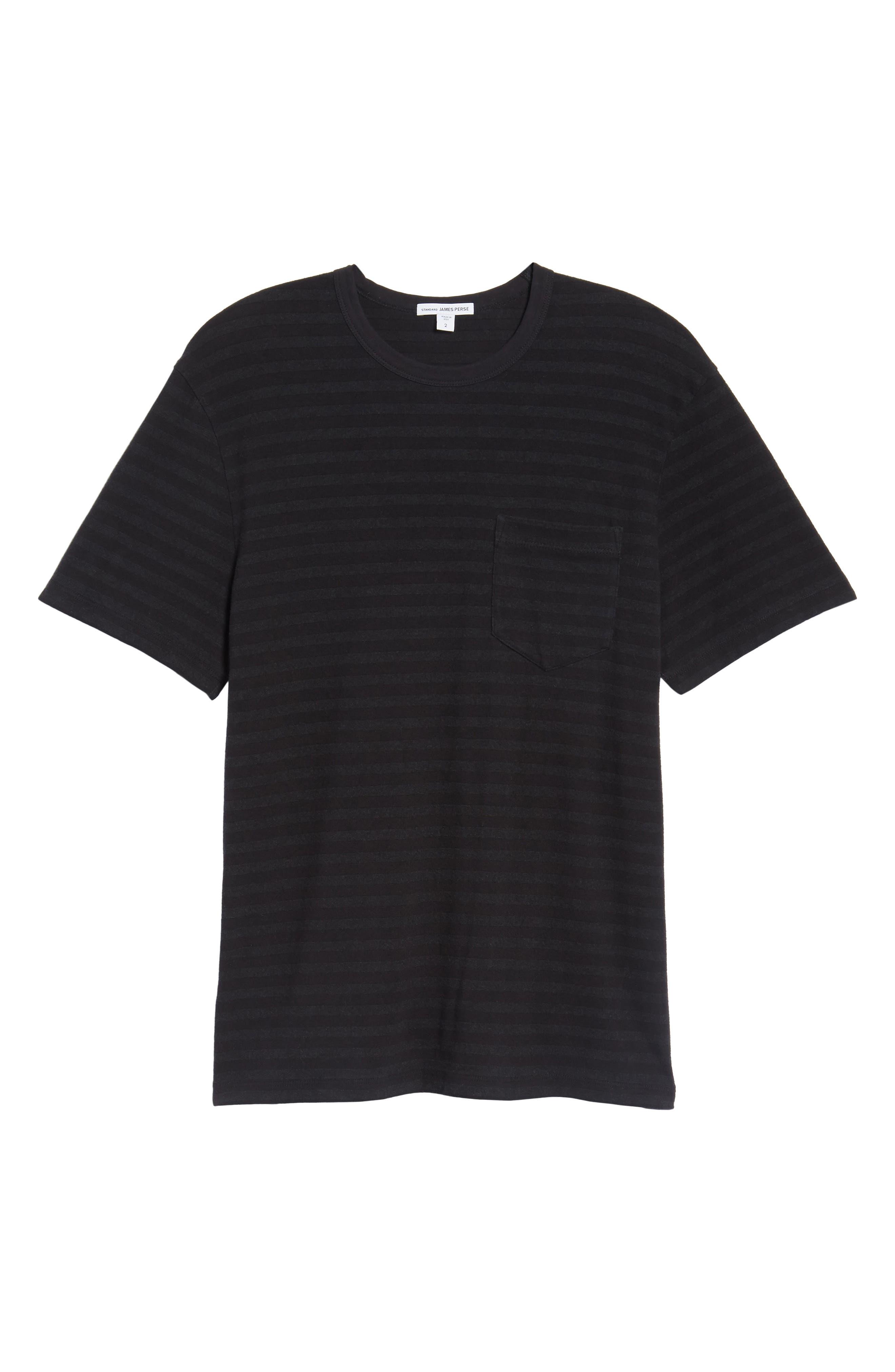 Shadow Stripe Pocket T-Shirt,                             Alternate thumbnail 6, color,                             020
