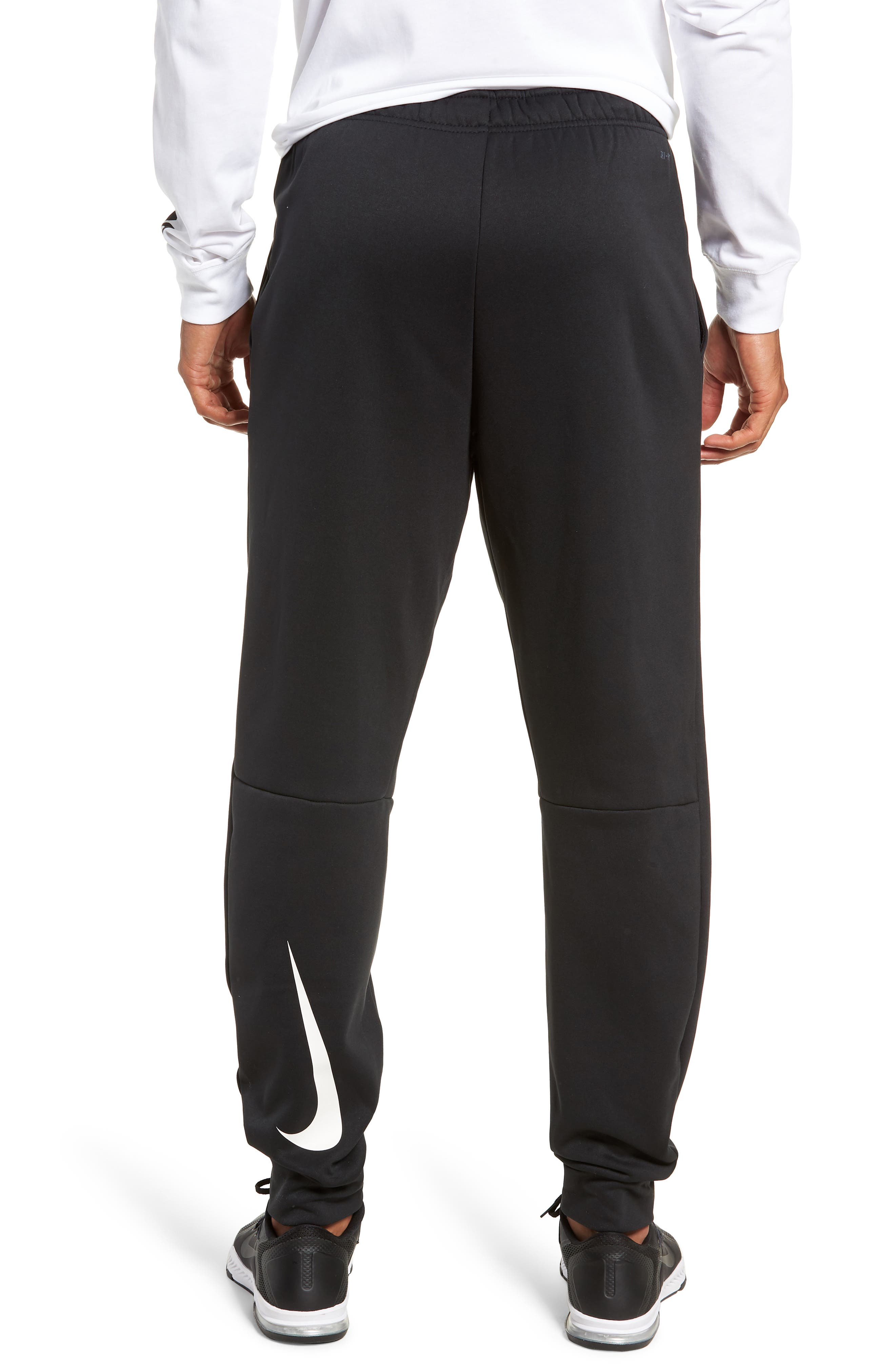 Therma Tapered Pants,                             Alternate thumbnail 2, color,                             BLACK/ WHITE