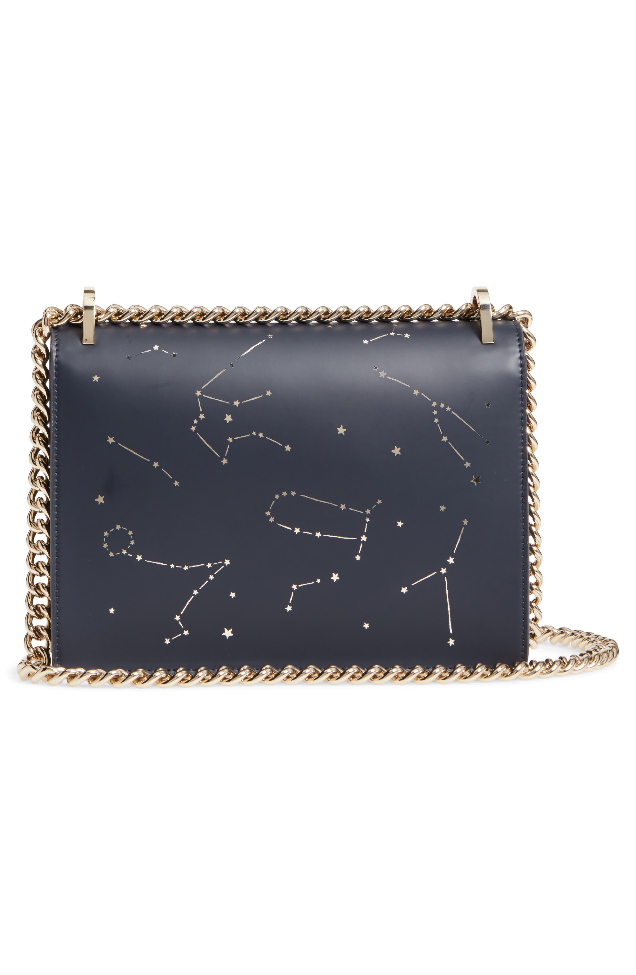 starbright marci LED light-up faux leather shoulder bag,                             Alternate thumbnail 3, color,                             400