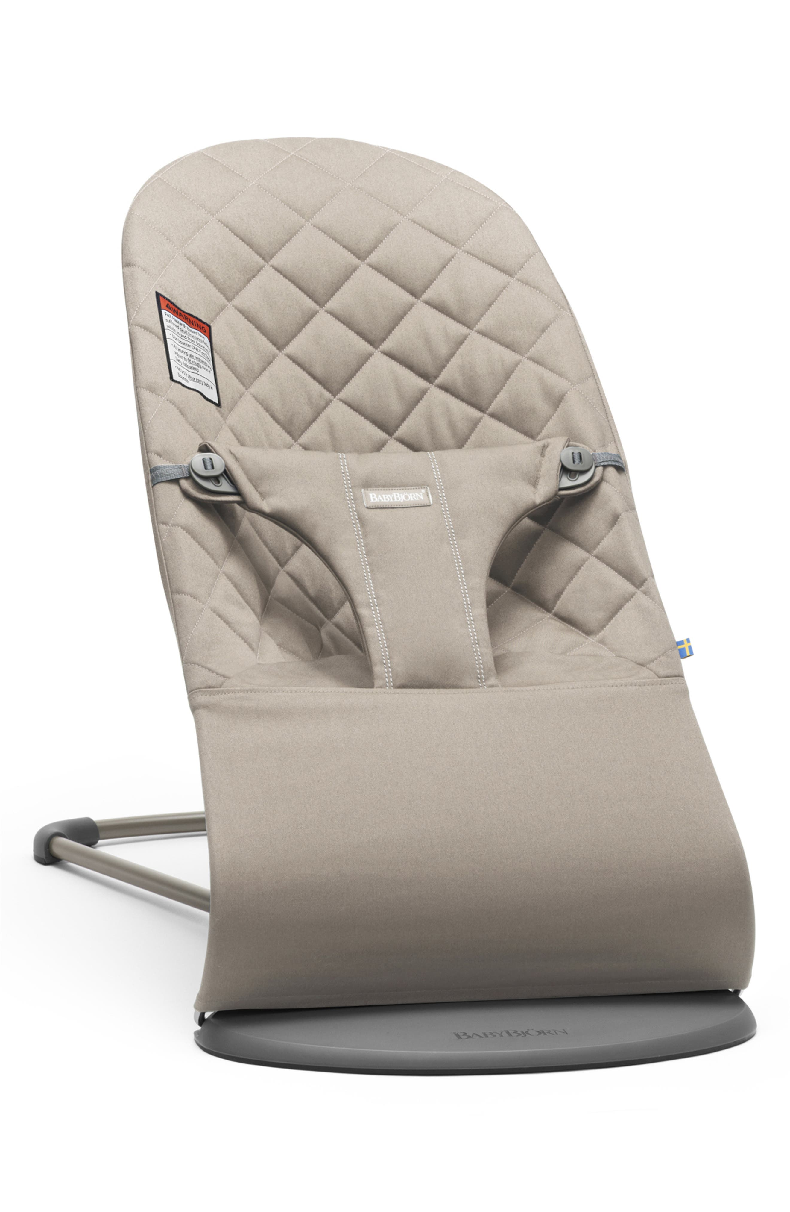 Infant Babybjorn Bouncer Bliss Convertible Quilted Baby Bouncer Size One Size  Grey
