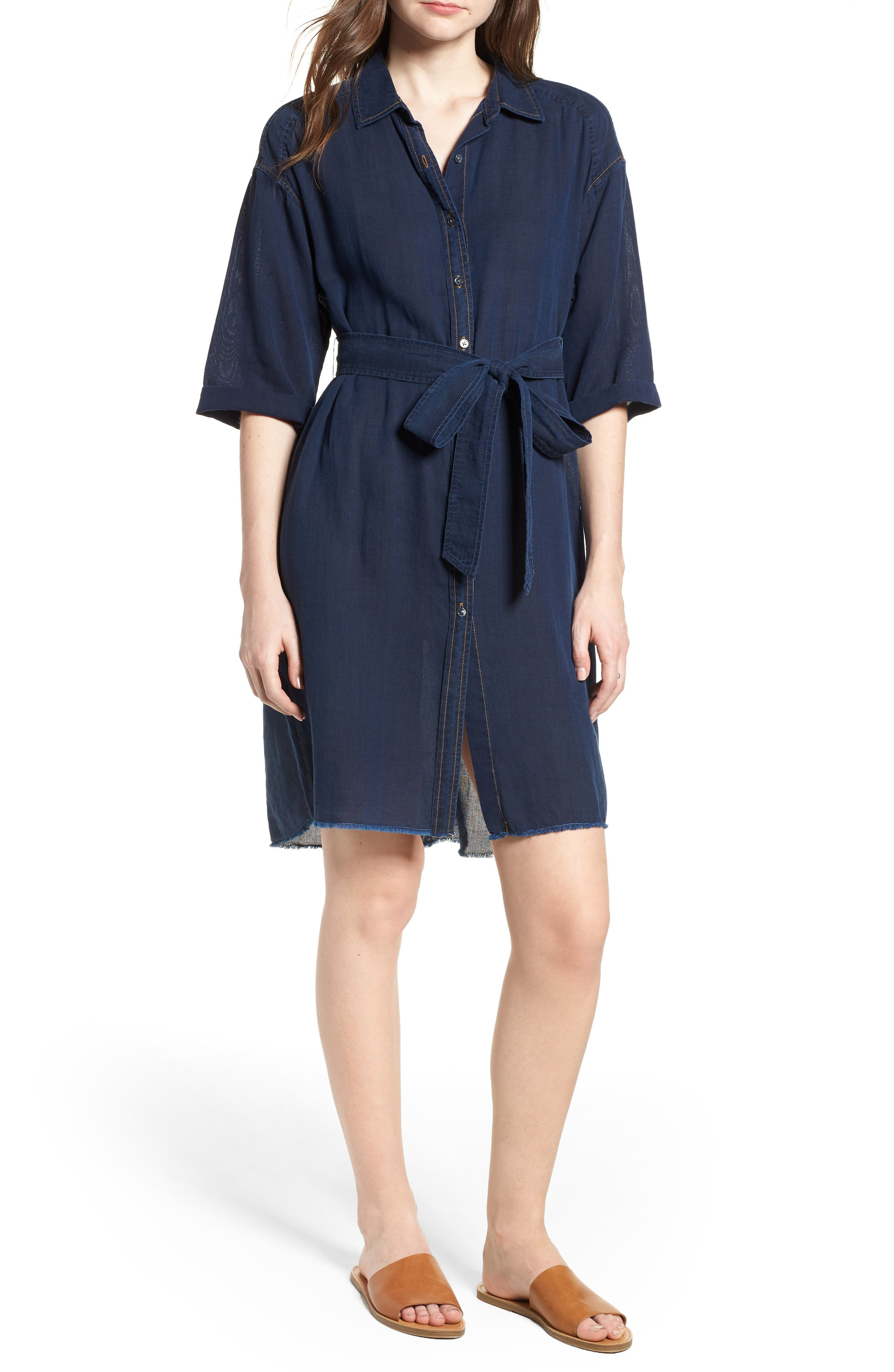 AG Claudia Canvas Shirtdress, Main, color, 425