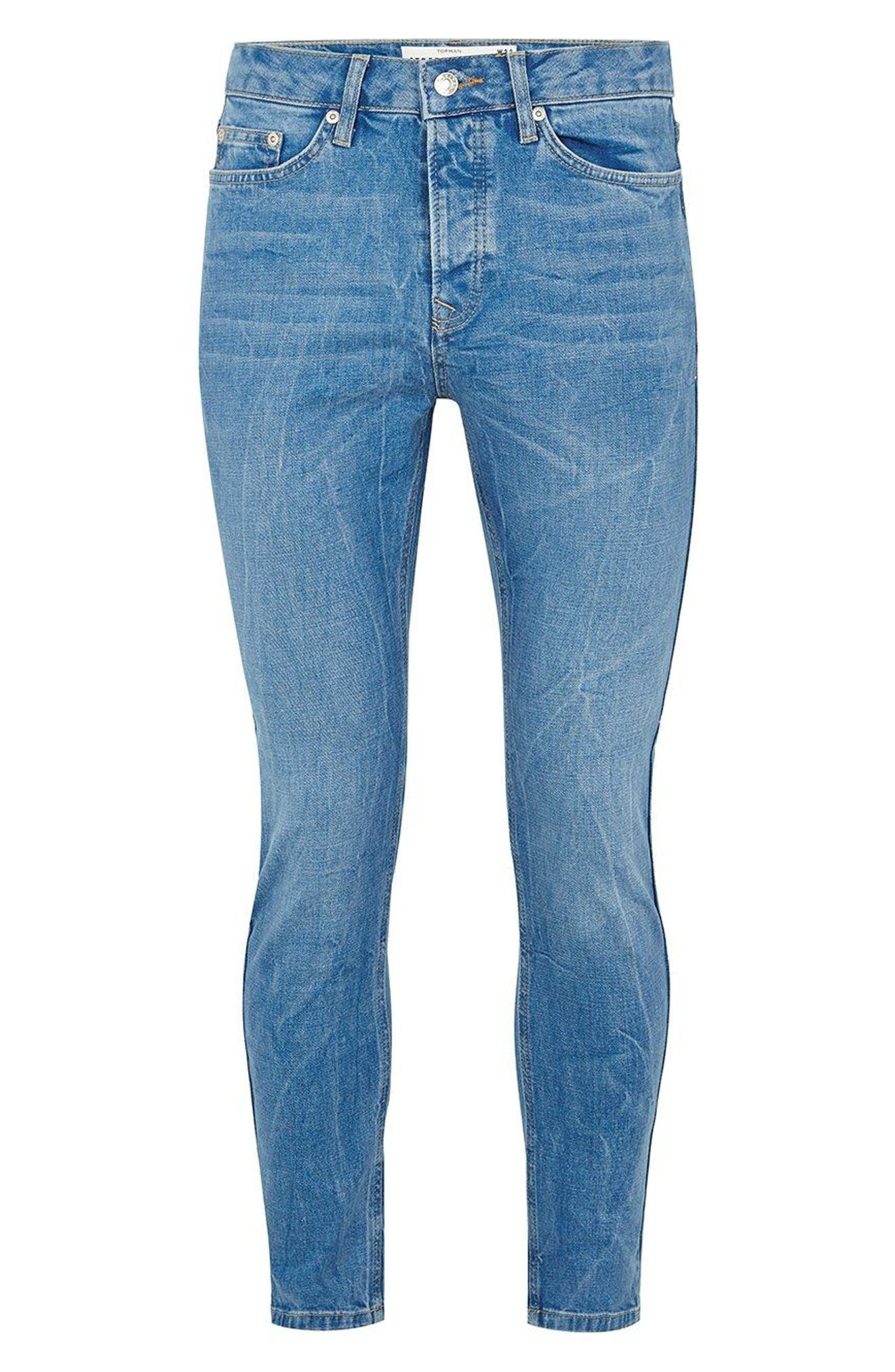 Stretch Slim Fit Jeans,                             Alternate thumbnail 4, color,                             400