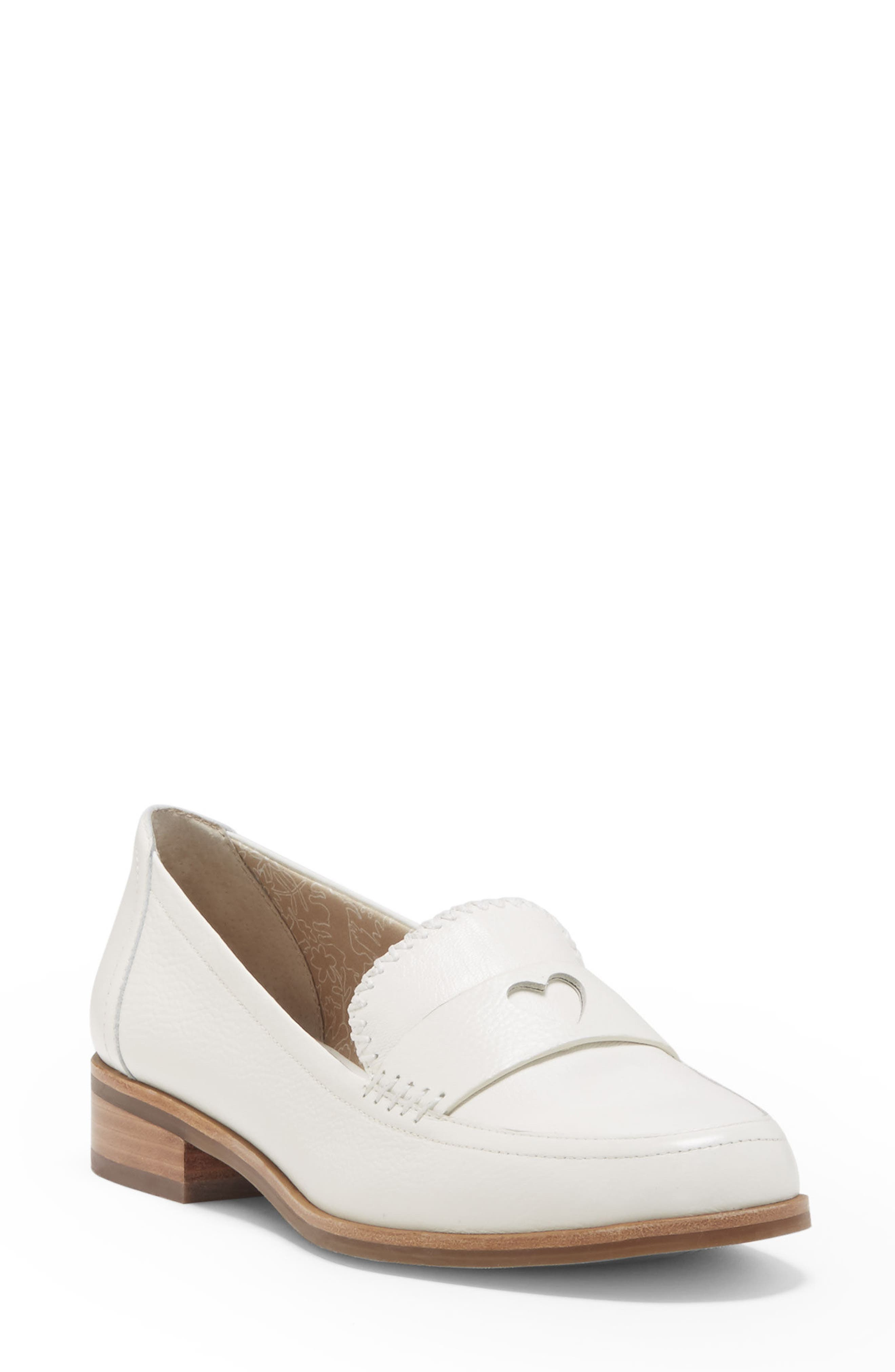 Laddie Loafer,                         Main,                         color, MILK LEATHER