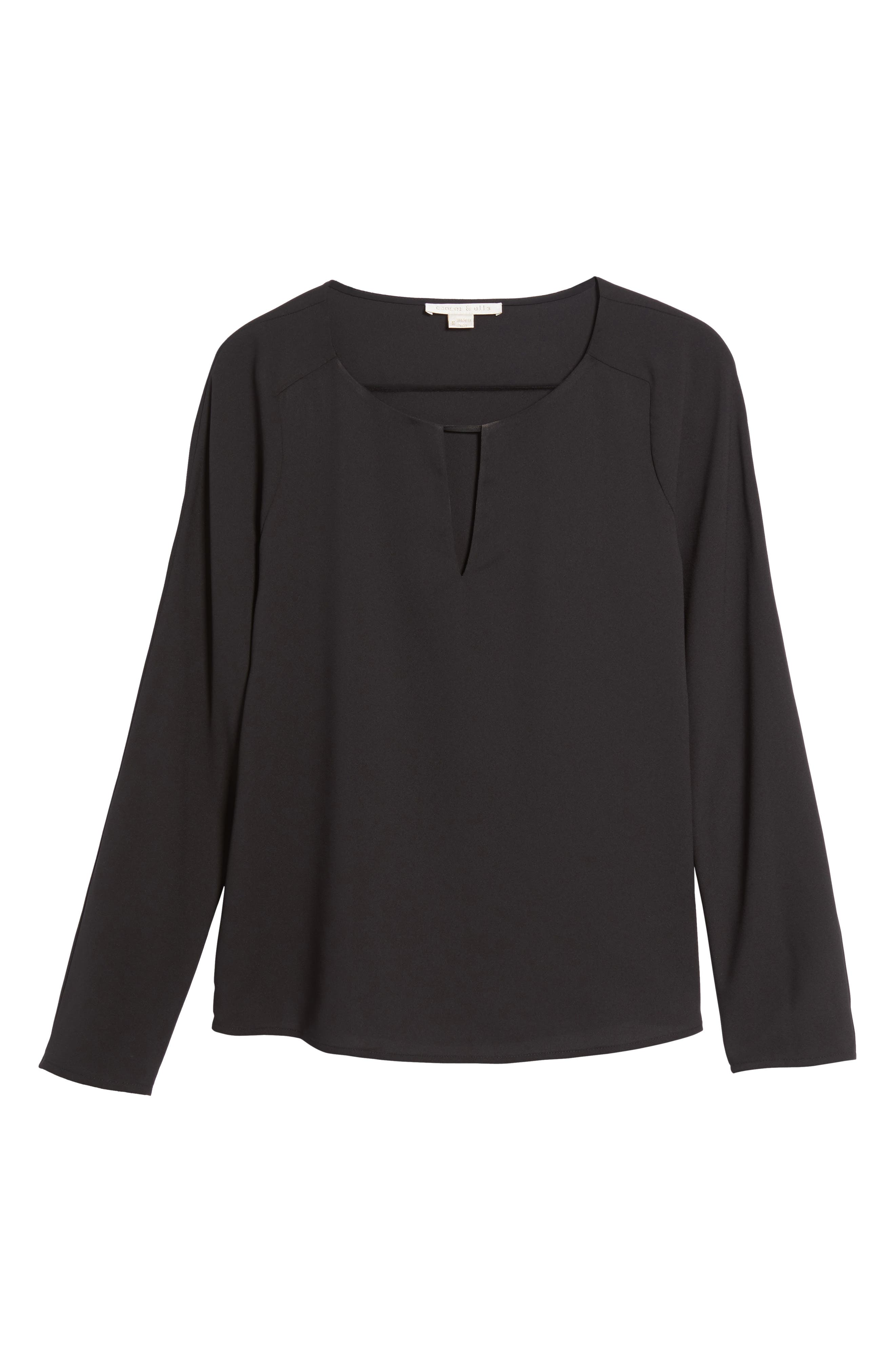 Selma Ruffle Blouse,                             Alternate thumbnail 6, color,                             001
