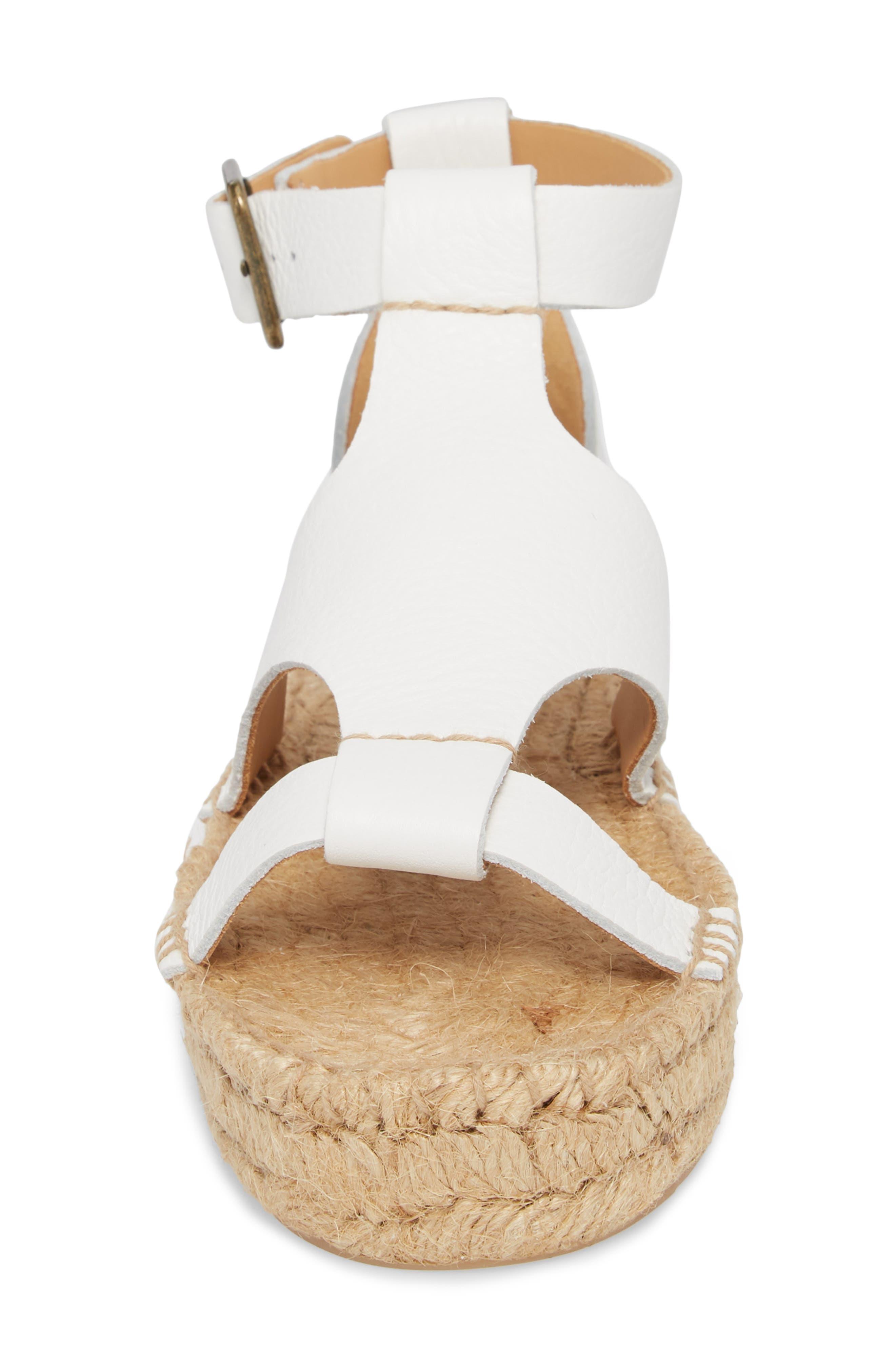 Espadrille Platform Sandal,                             Alternate thumbnail 4, color,                             100