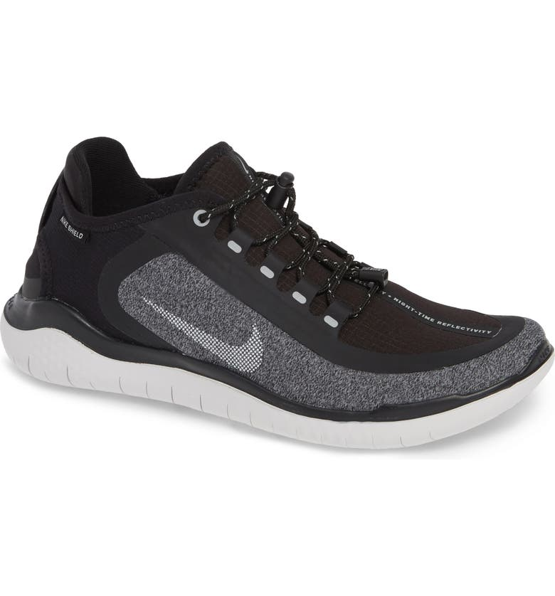 the latest a80c4 72674 NIKE Free RN 2018 Shield Water Repellent Running Shoe, Main, color, BLACK